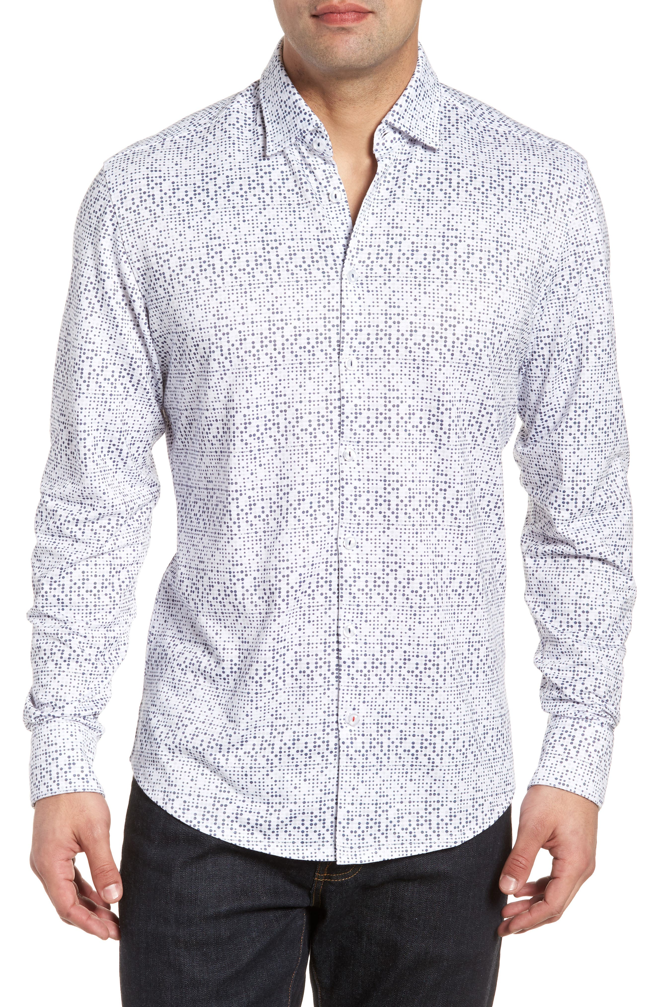 Sport Shirt,                         Main,                         color, White