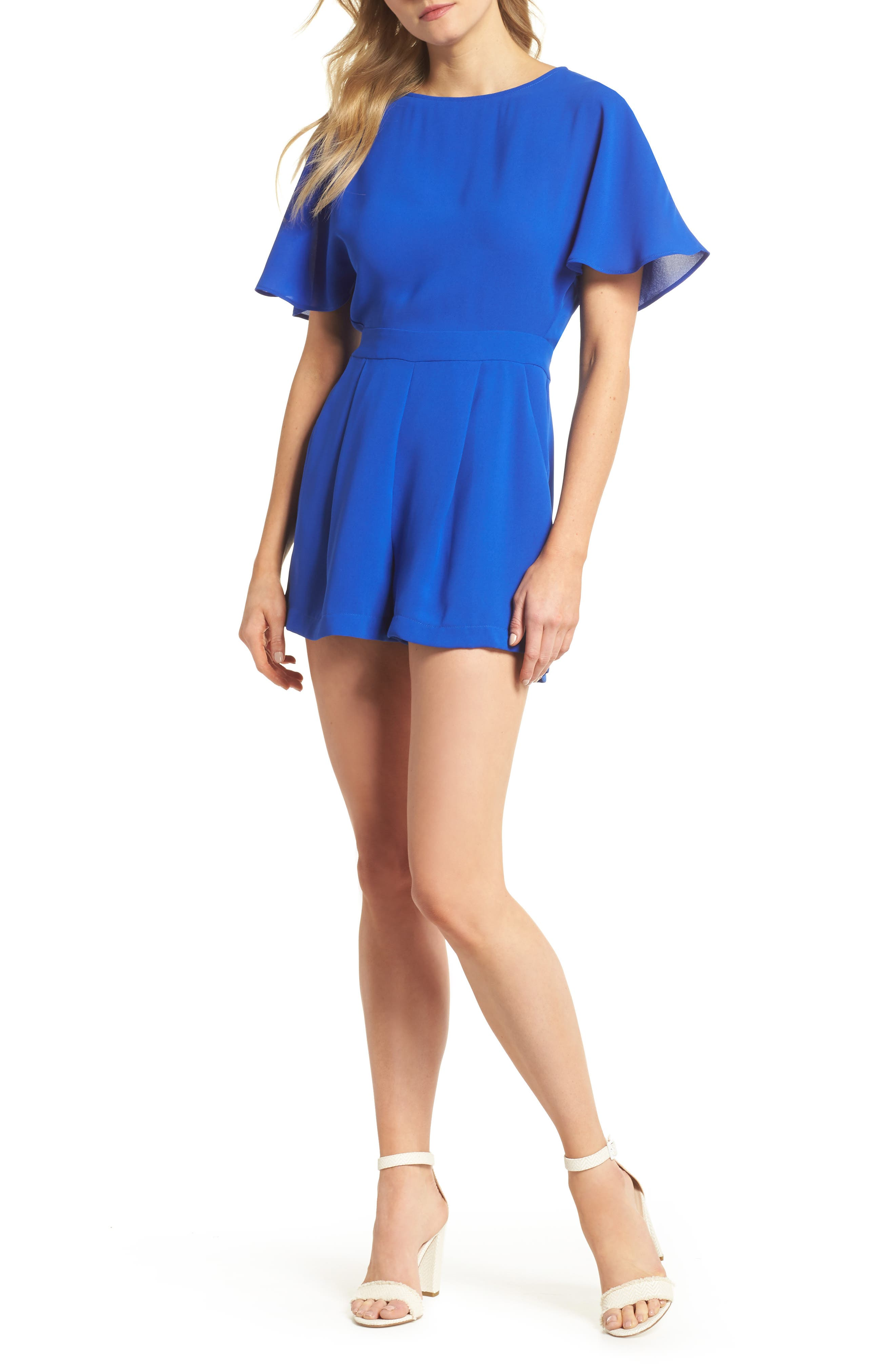 Karen Romper,                         Main,                         color, Electric Blue