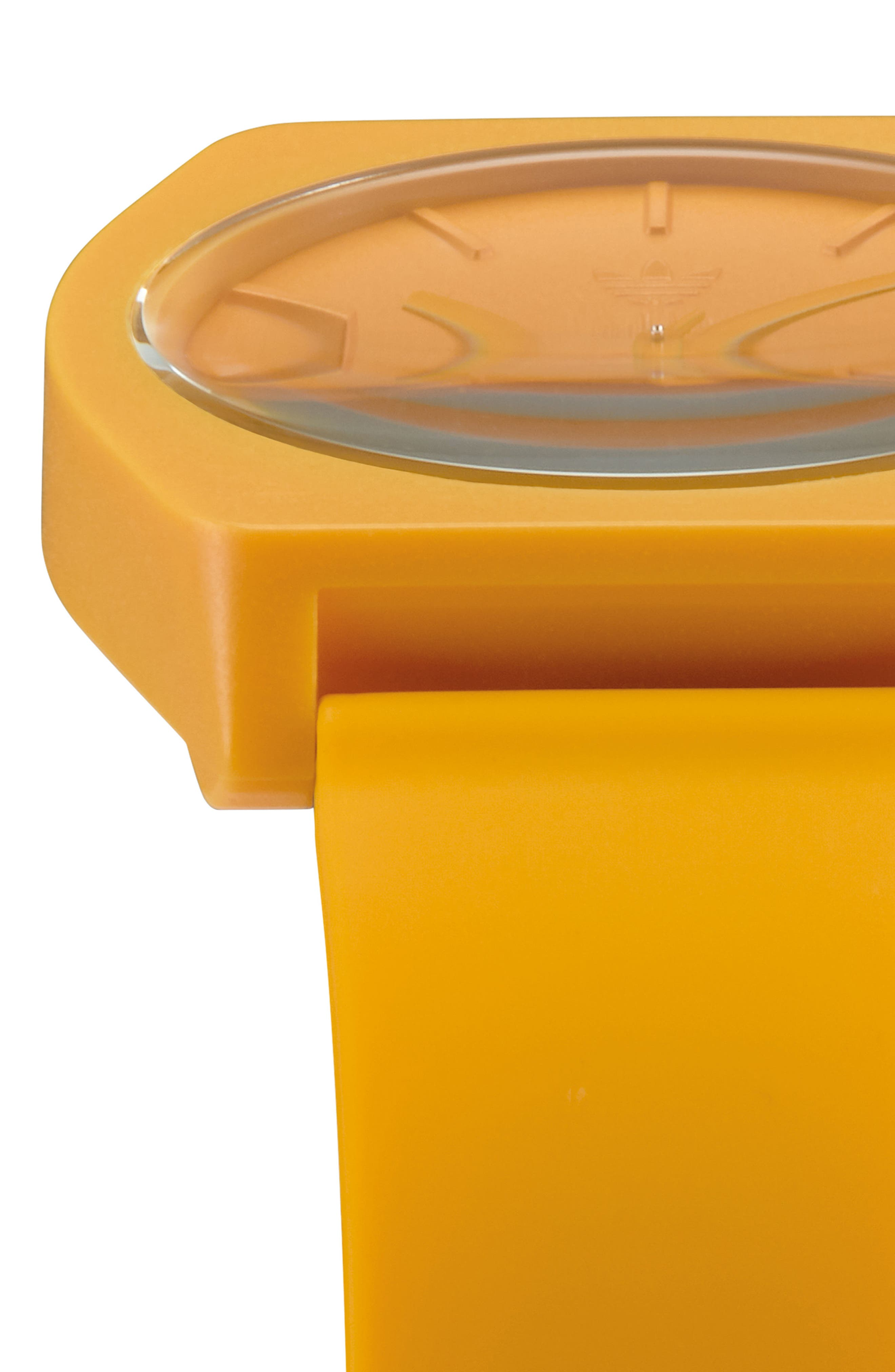 Process Silicone Strap Watch, 38mm,                             Alternate thumbnail 4, color,                             Gold