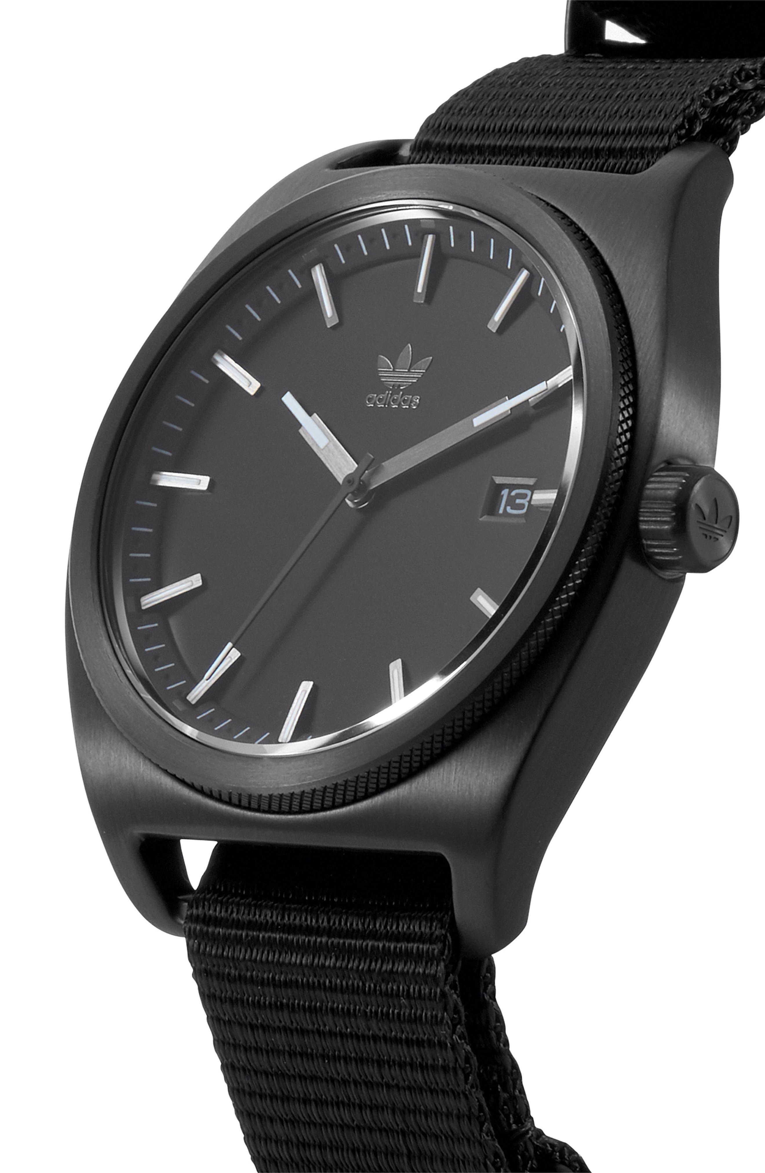 Process NATO Strap Watch, 38mm,                             Alternate thumbnail 5, color,                             Gunmetal/ Black