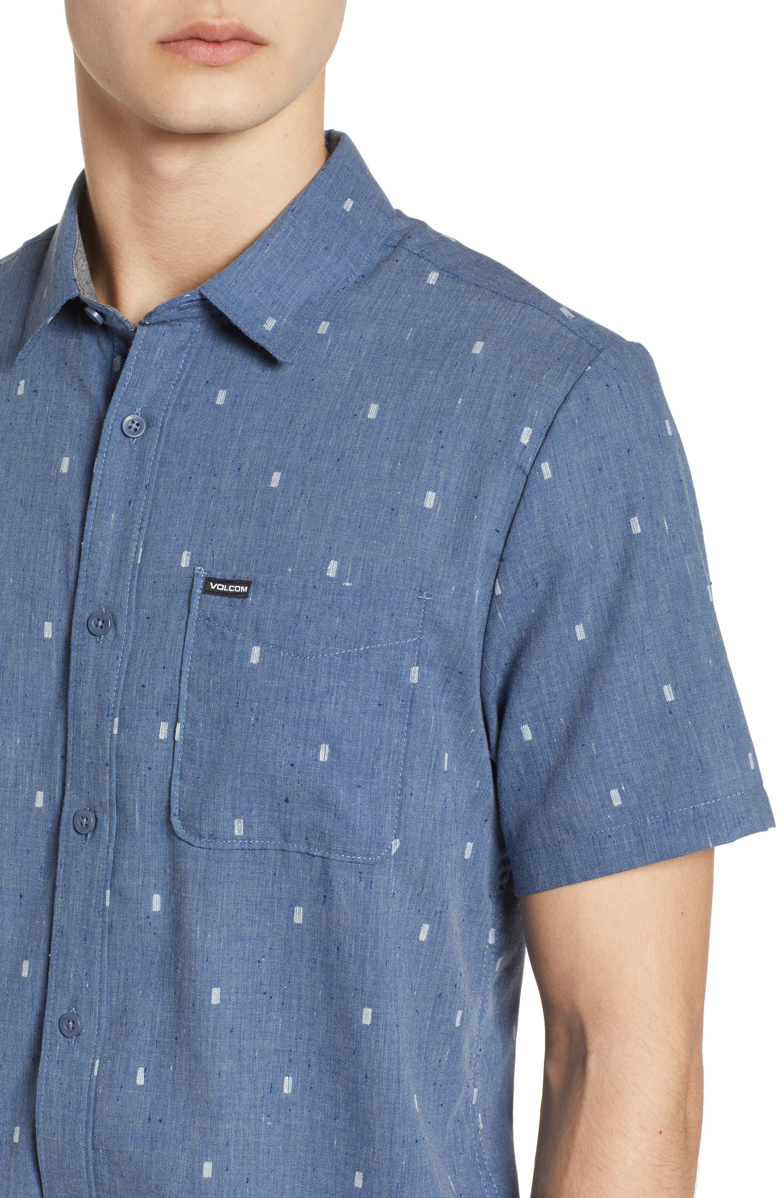 Gladstone Short Sleeve Shirt,                             Alternate thumbnail 4, color,                             Deep Blue