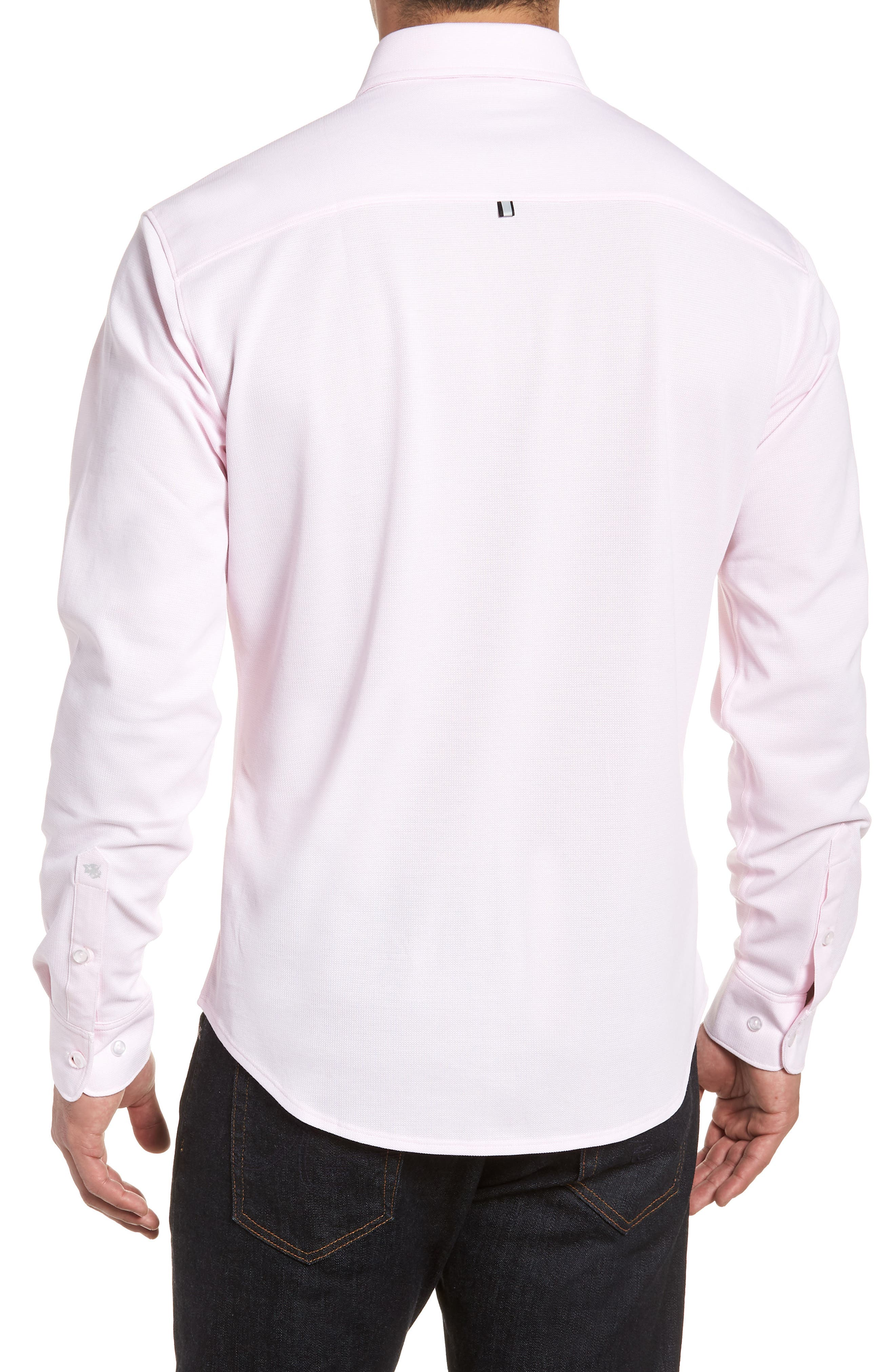 Knit Sport Shirt,                             Alternate thumbnail 2, color,                             Pink