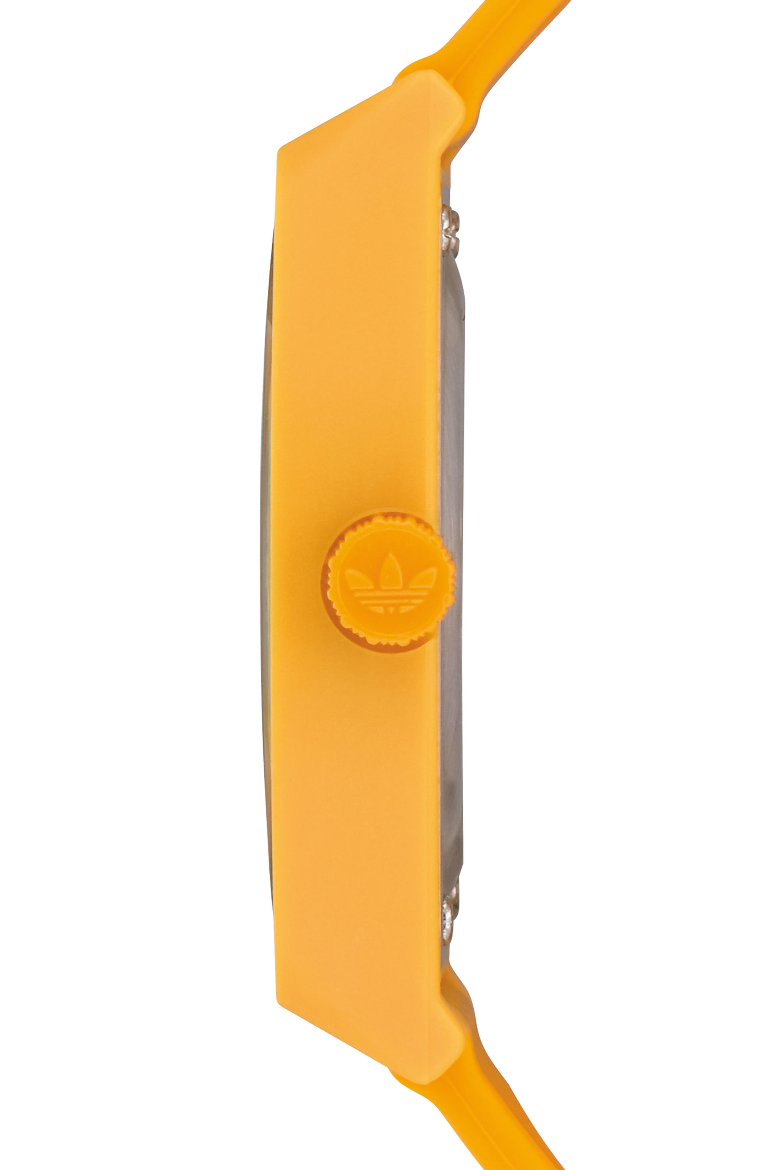 Process Silicone Strap Watch, 38mm,                             Alternate thumbnail 3, color,                             Gold