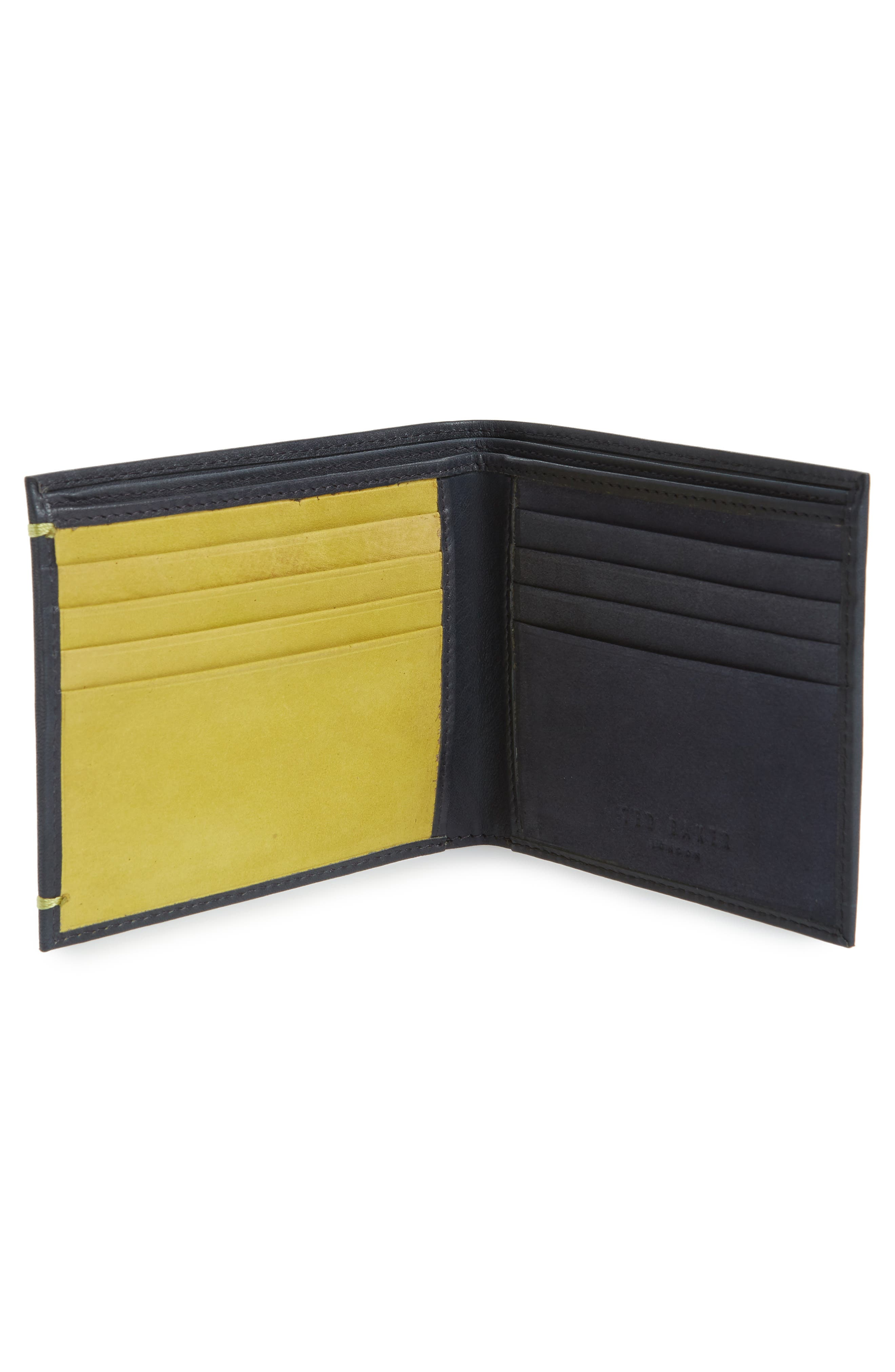 Rester Leather Bifold Wallet,                             Alternate thumbnail 2, color,                             Navy