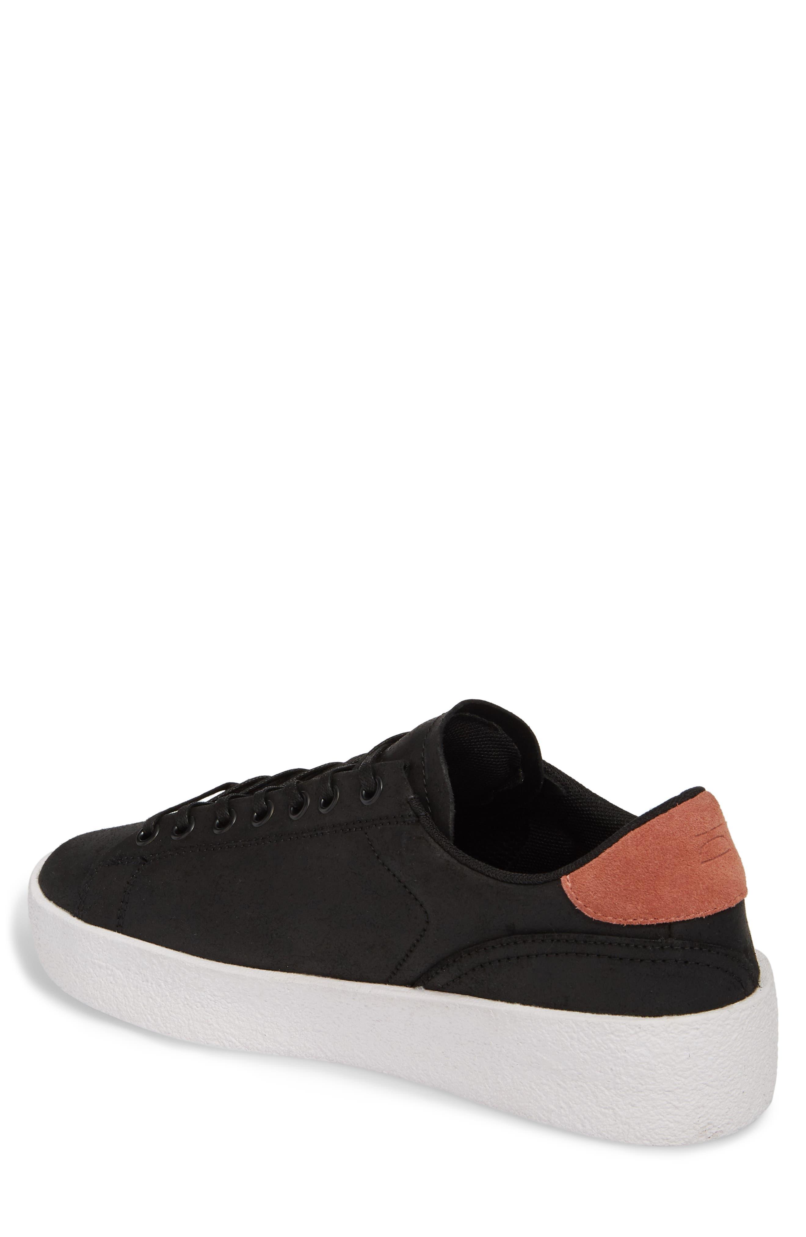 Jones Platform Sneaker,                             Alternate thumbnail 2, color,                             Black Leather