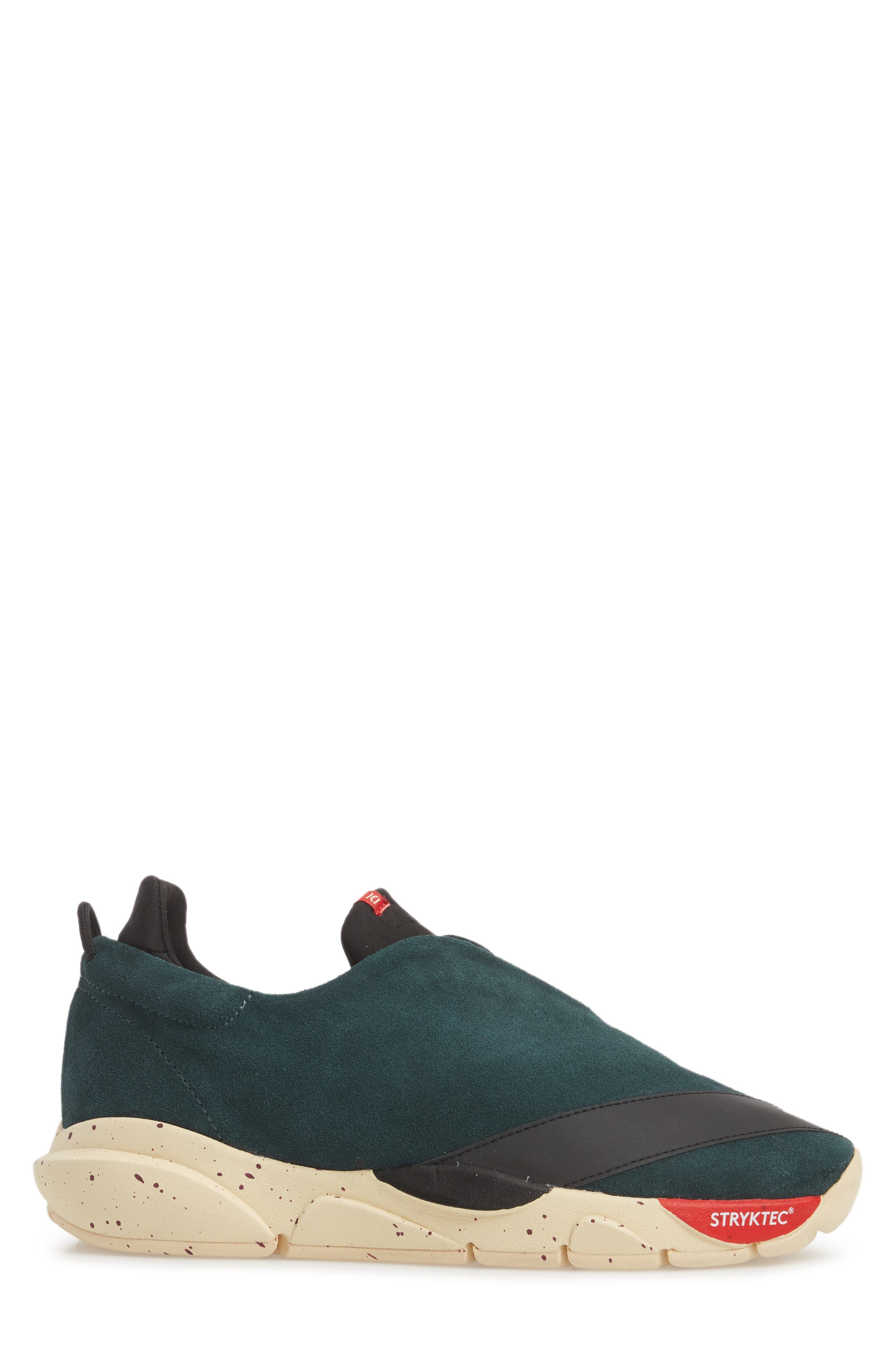 The Alpha Sneaker,                             Alternate thumbnail 3, color,                             Sequoia Green Leather