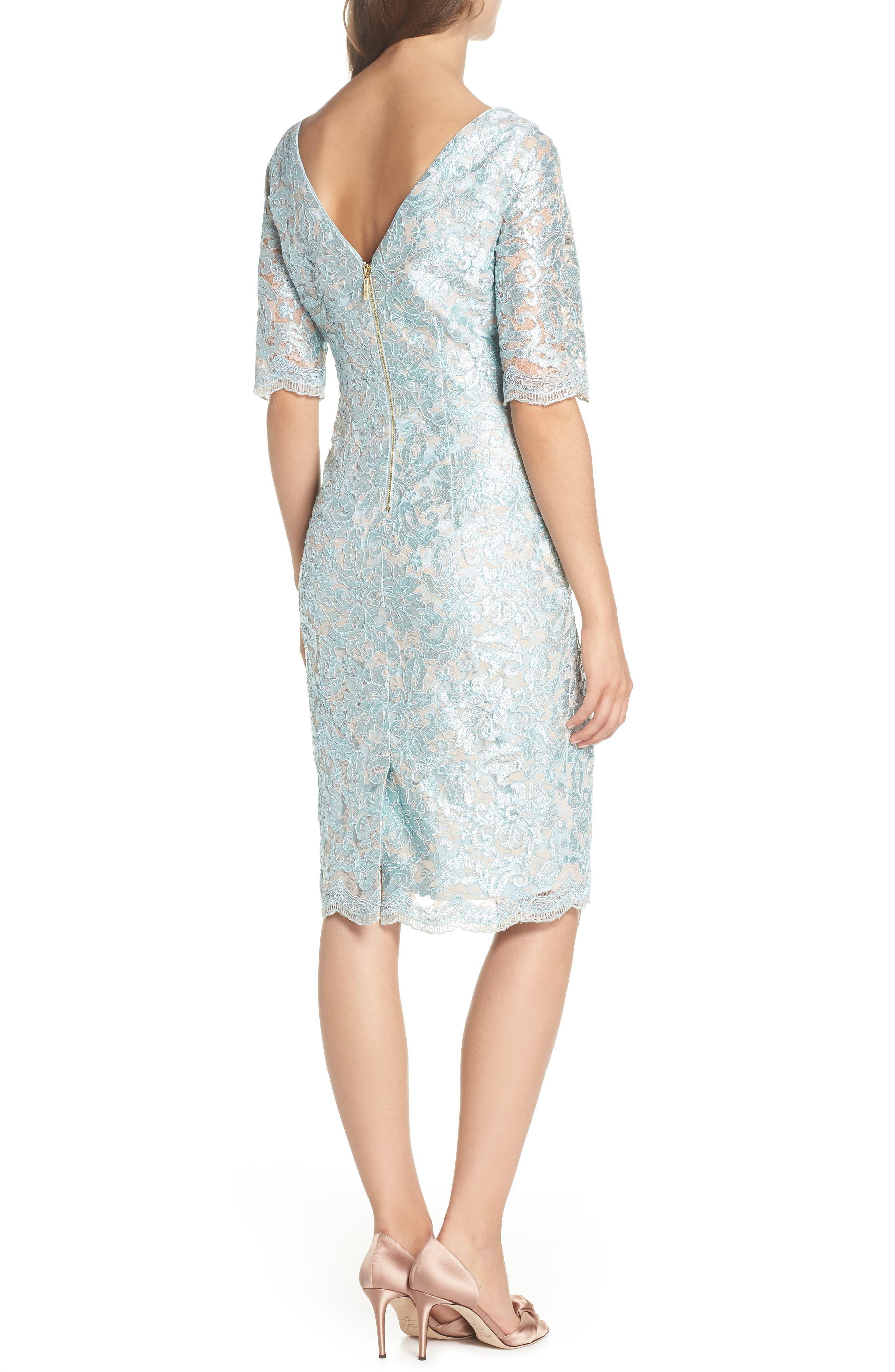 Lace Sheath Dress,                             Alternate thumbnail 2, color,                             Mint