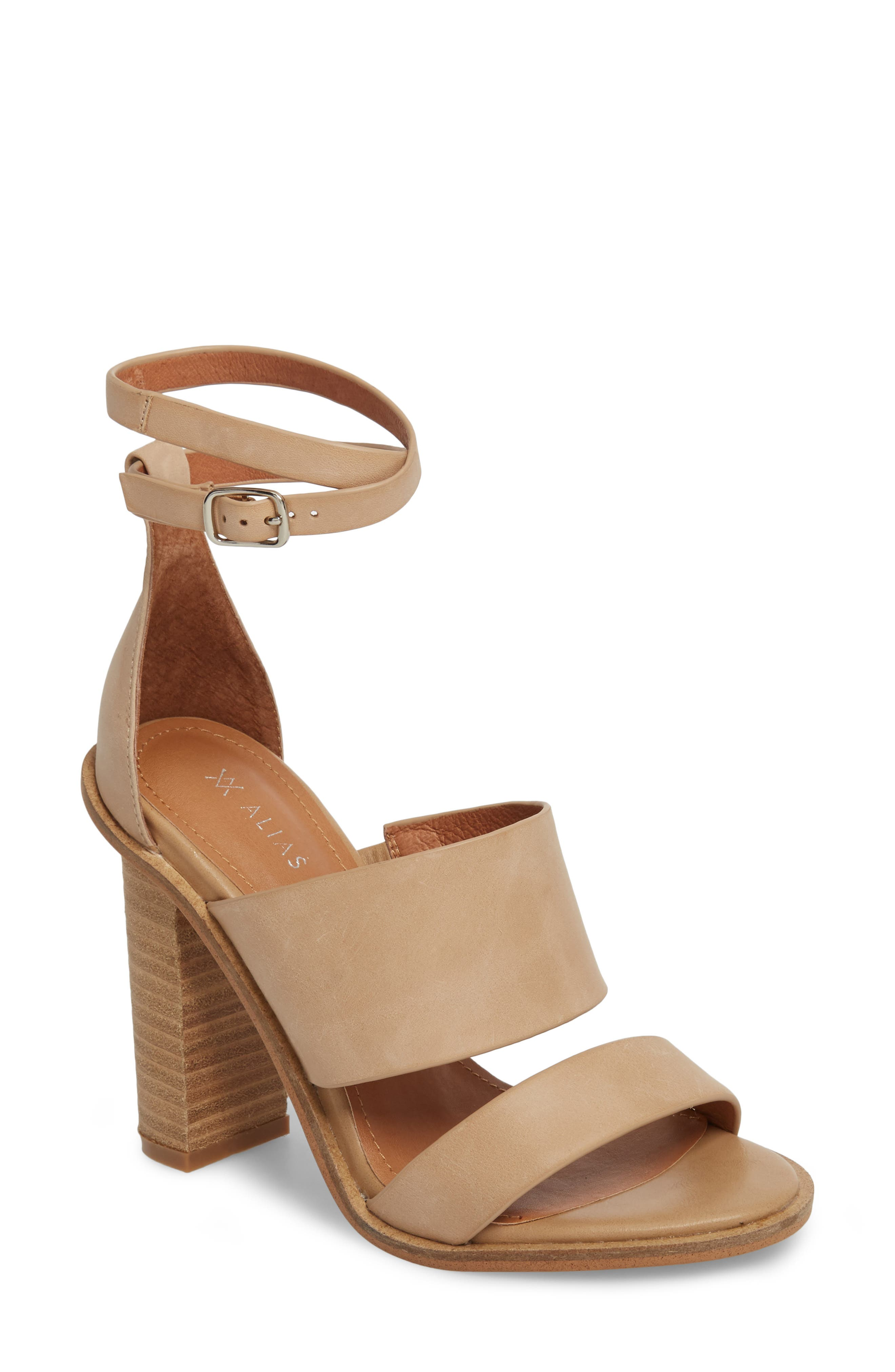 Admiral Ankle Wrap Sandal,                         Main,                         color, Natural Leather