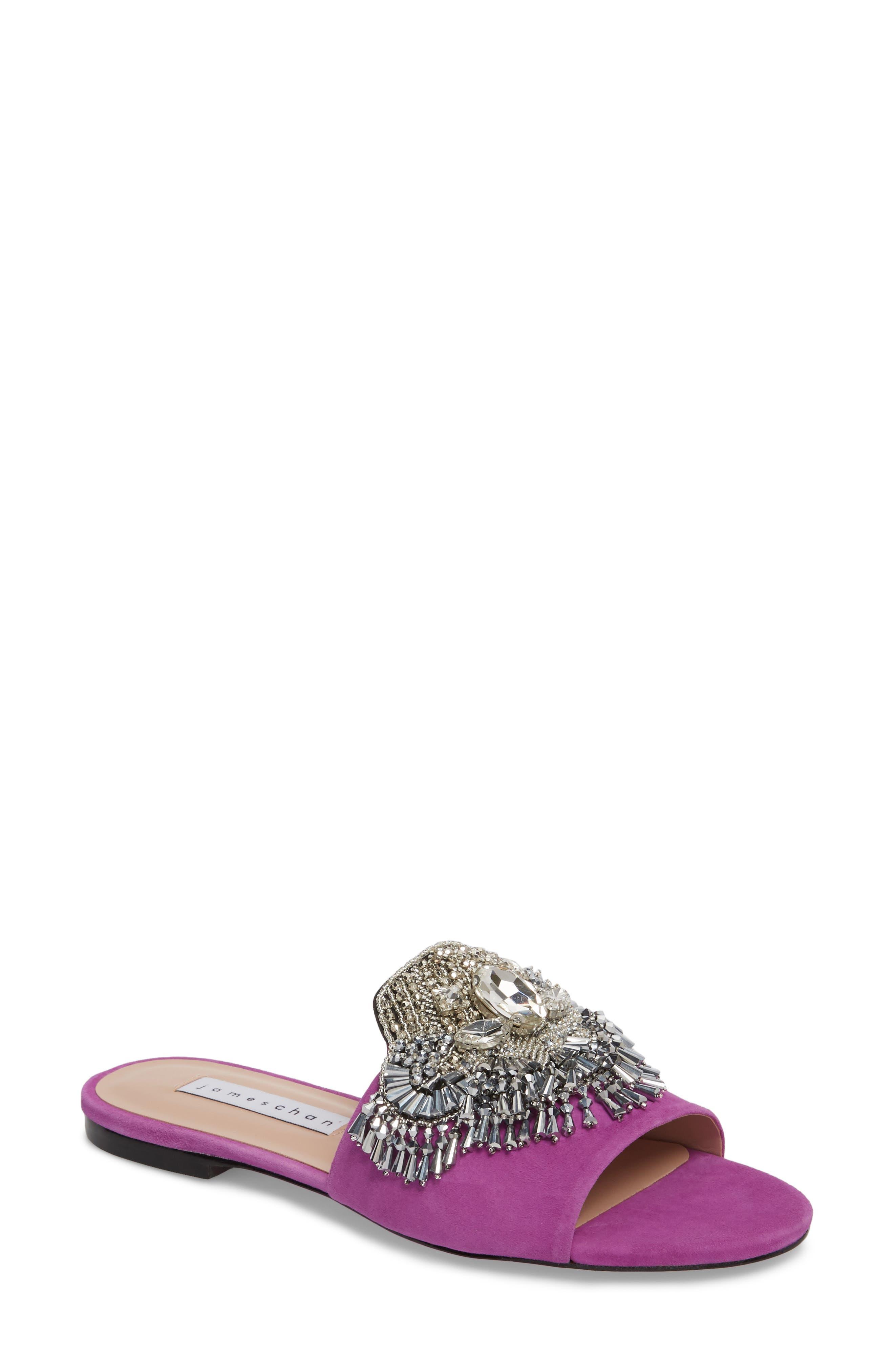 Alternate Image 1 Selected - James Chan Jallie Crystal Embellished Slide (Women)