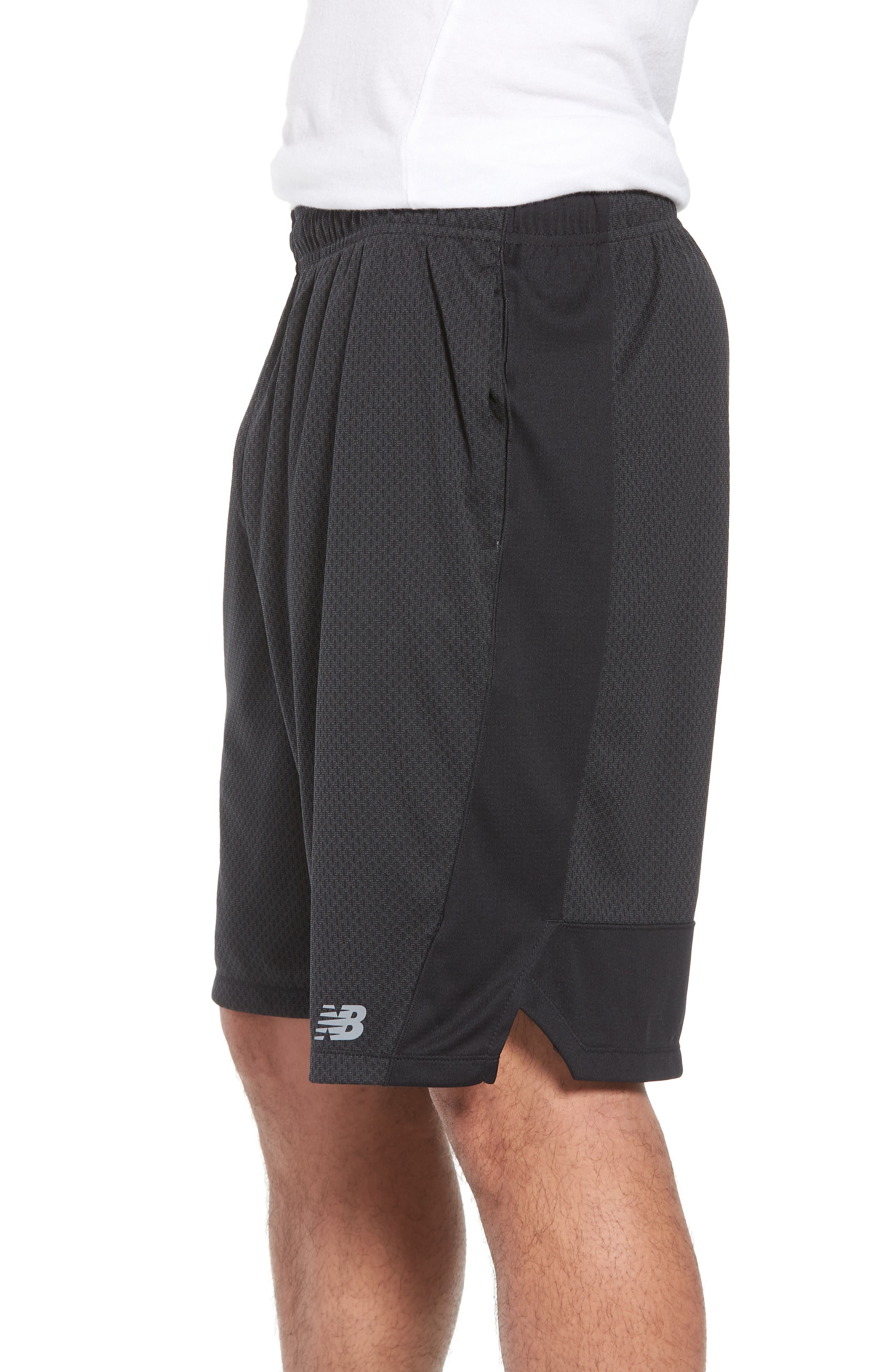 Tencity Knit Shorts,                             Alternate thumbnail 3, color,                             Black