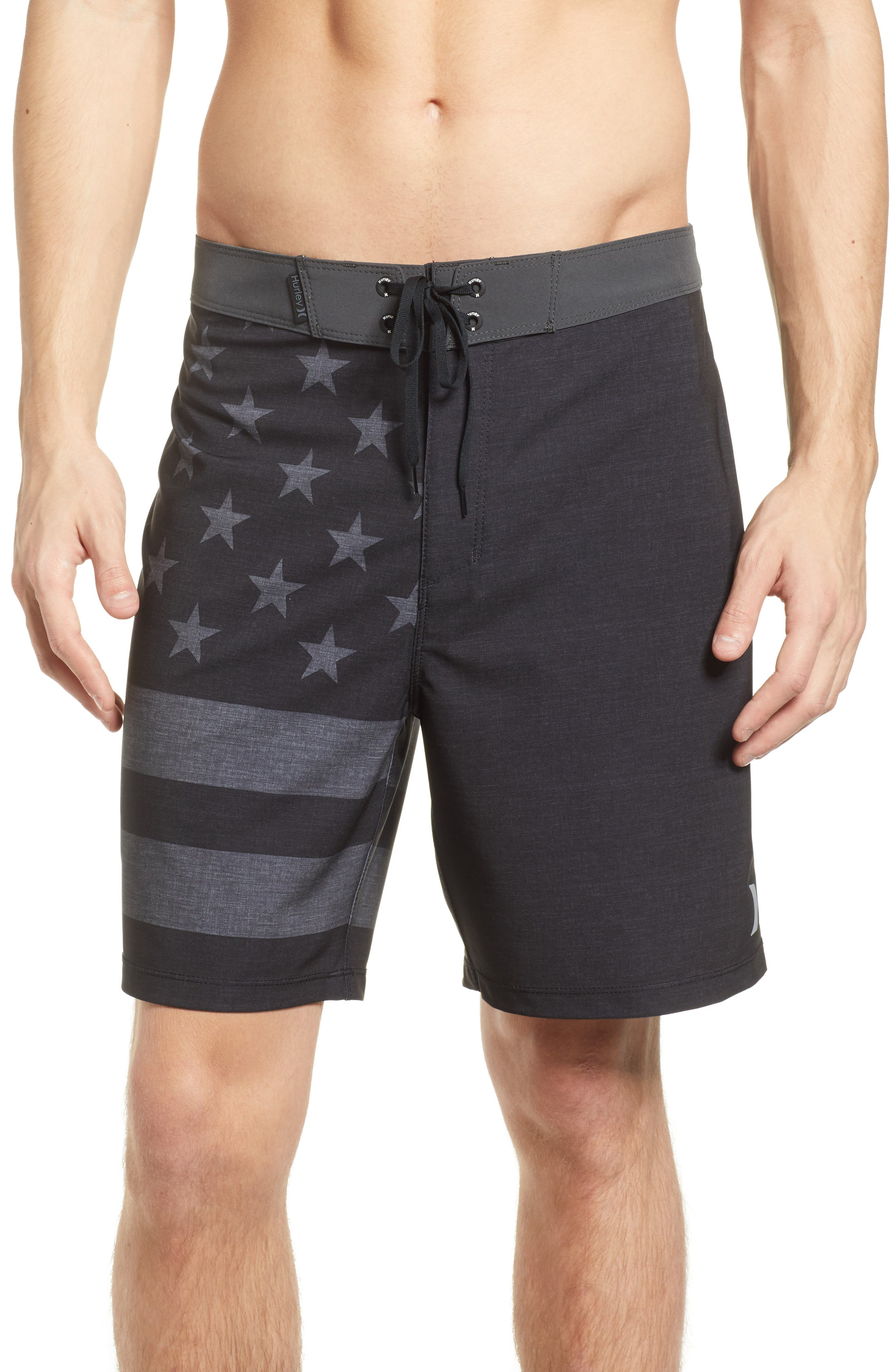 Phantom Cheers Board Shorts,                             Main thumbnail 1, color,                             Black