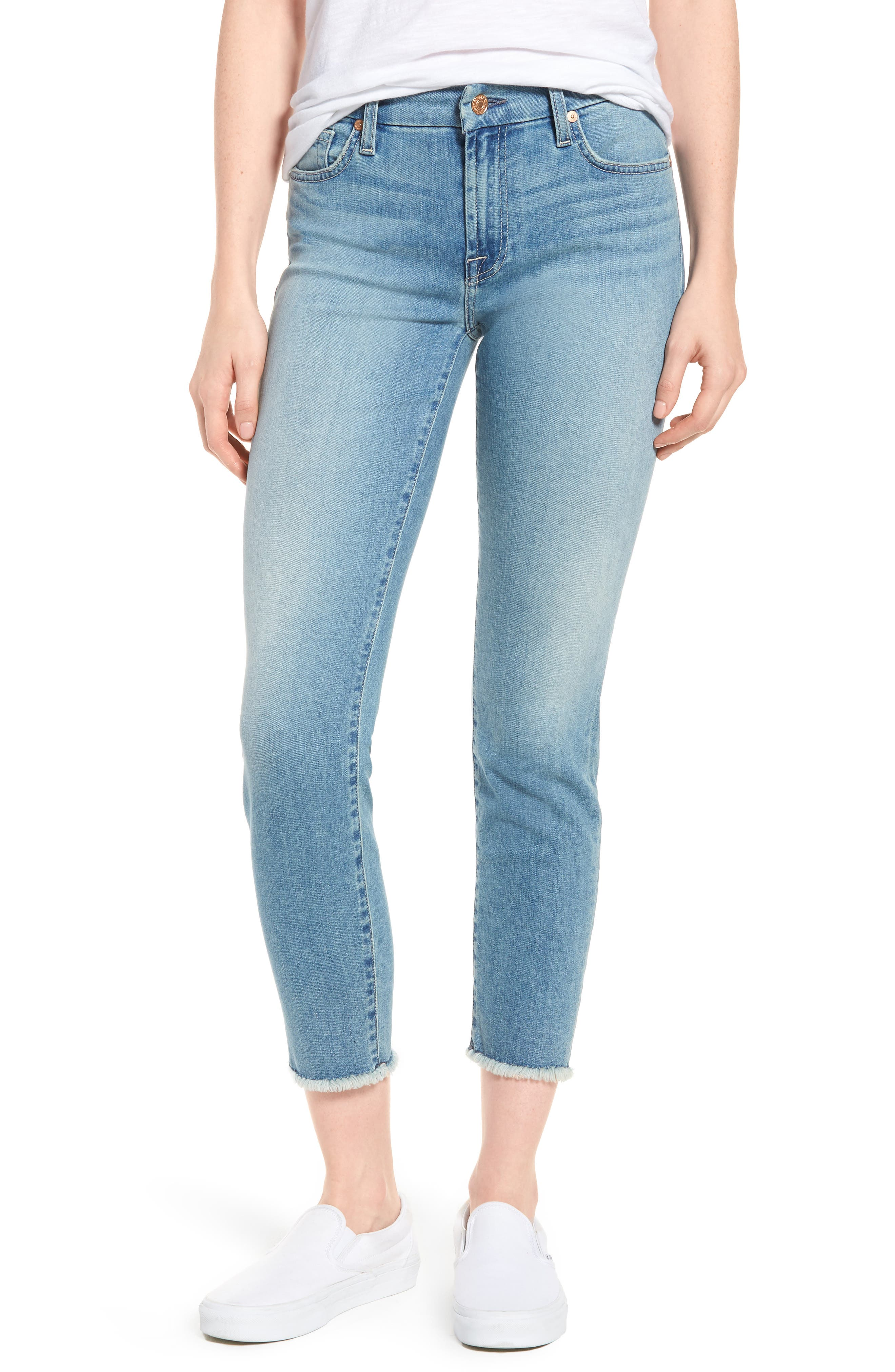 Kimmie Crop Straight Leg Jeans,                             Main thumbnail 1, color,                             Desert Heights