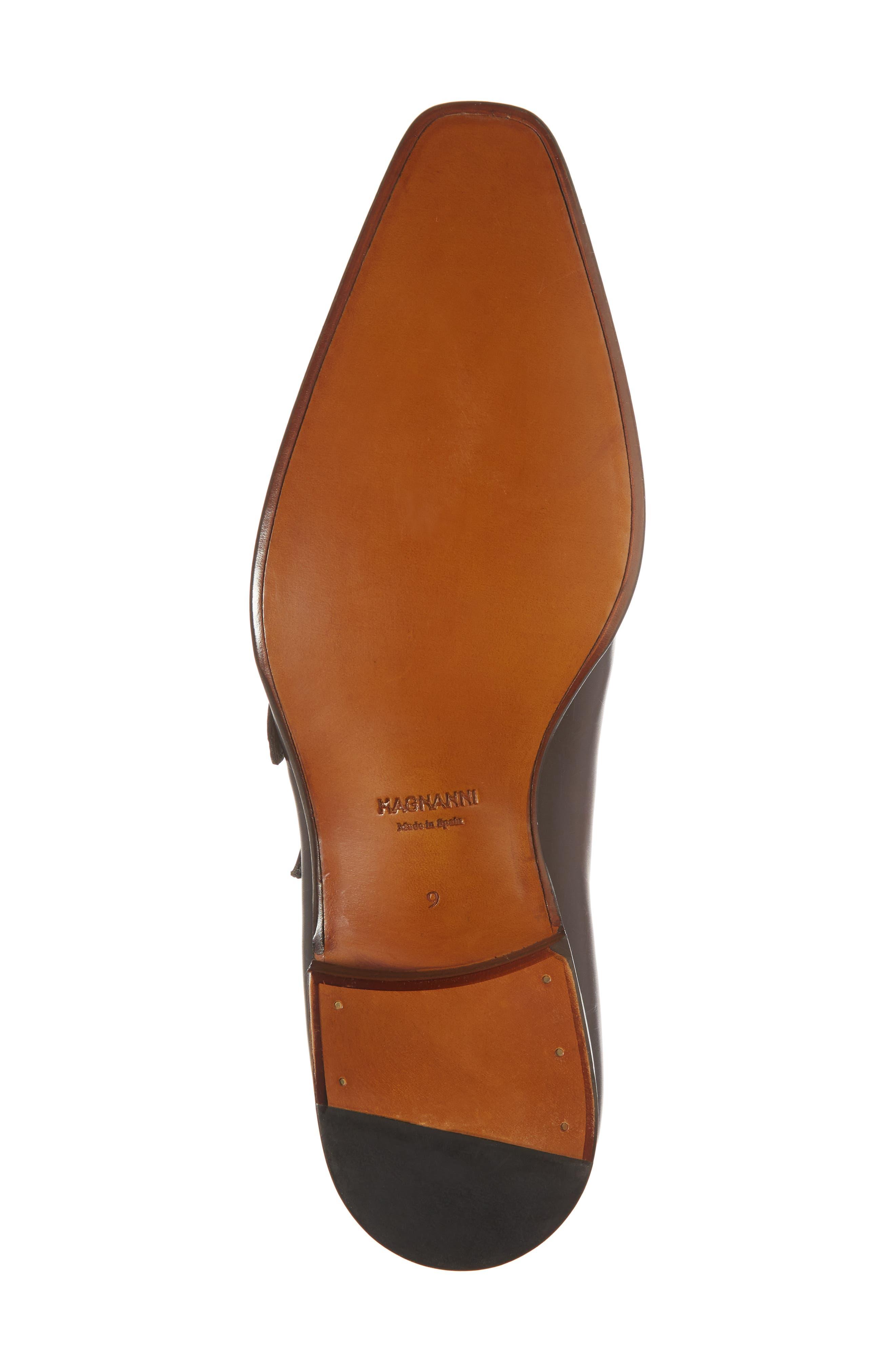 Hafiz Double Strap Monk Shoe,                             Alternate thumbnail 6, color,                             Tabaco Leather