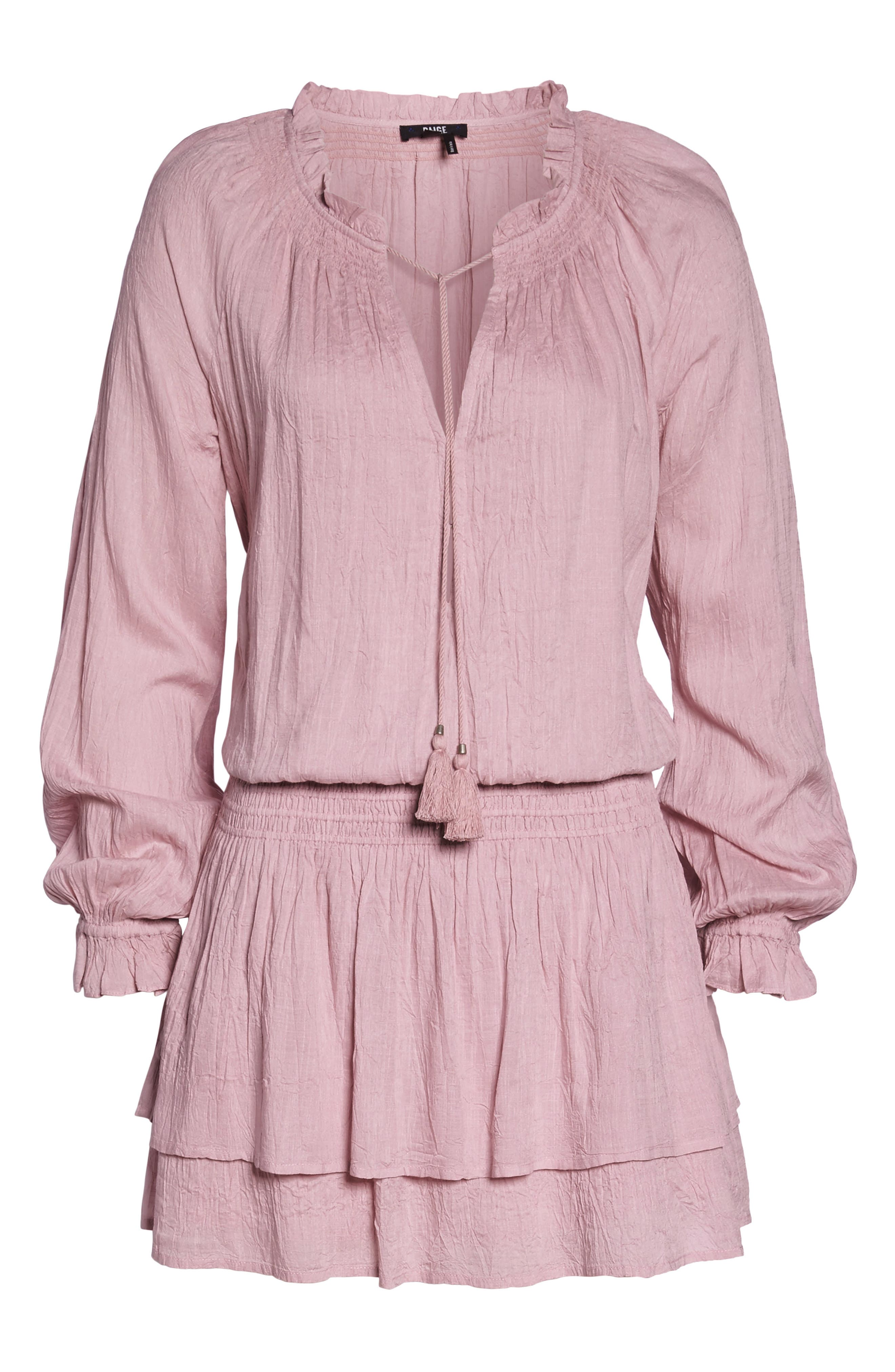 Lemay Peasant Dress,                             Alternate thumbnail 7, color,                             Pale Mauve
