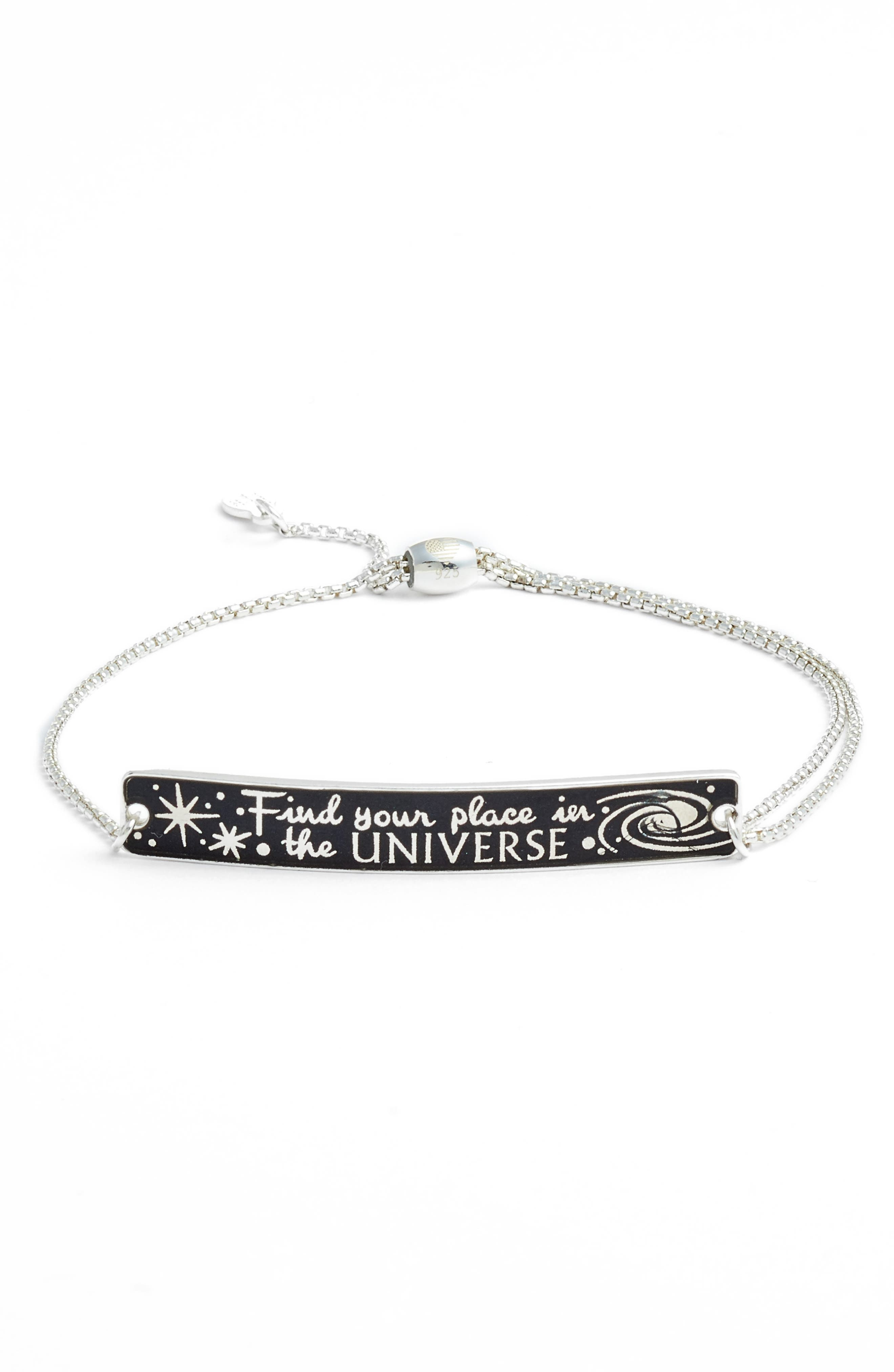 x Disney<sup>®</sup> 'A Wrinkle in Time' Find Your Place in the Universe Pull Chain Bracelet,                         Main,                         color, Silver