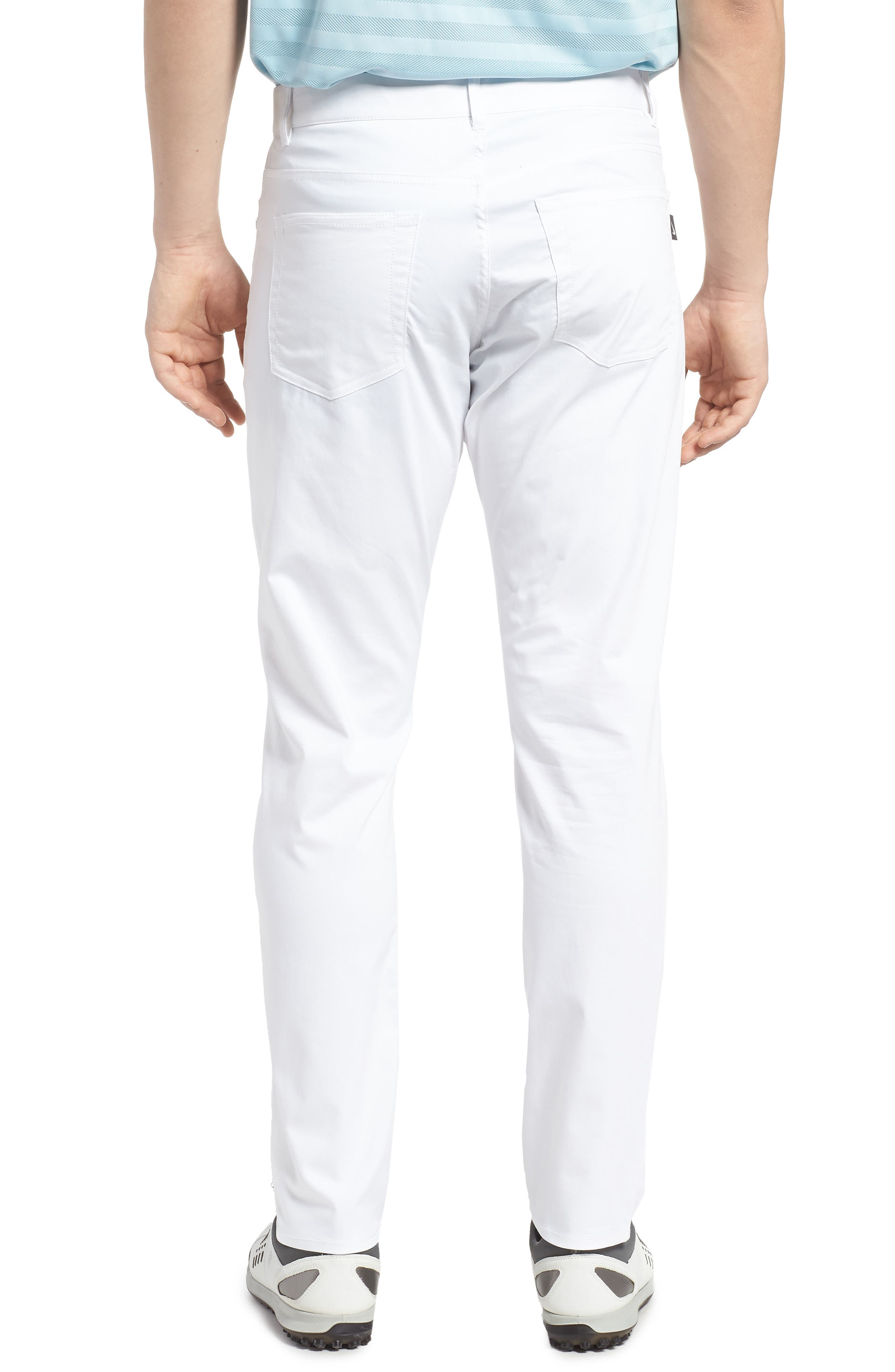 Dry Flex Slim Fit Golf Pants,                             Alternate thumbnail 2, color,                             White/ White