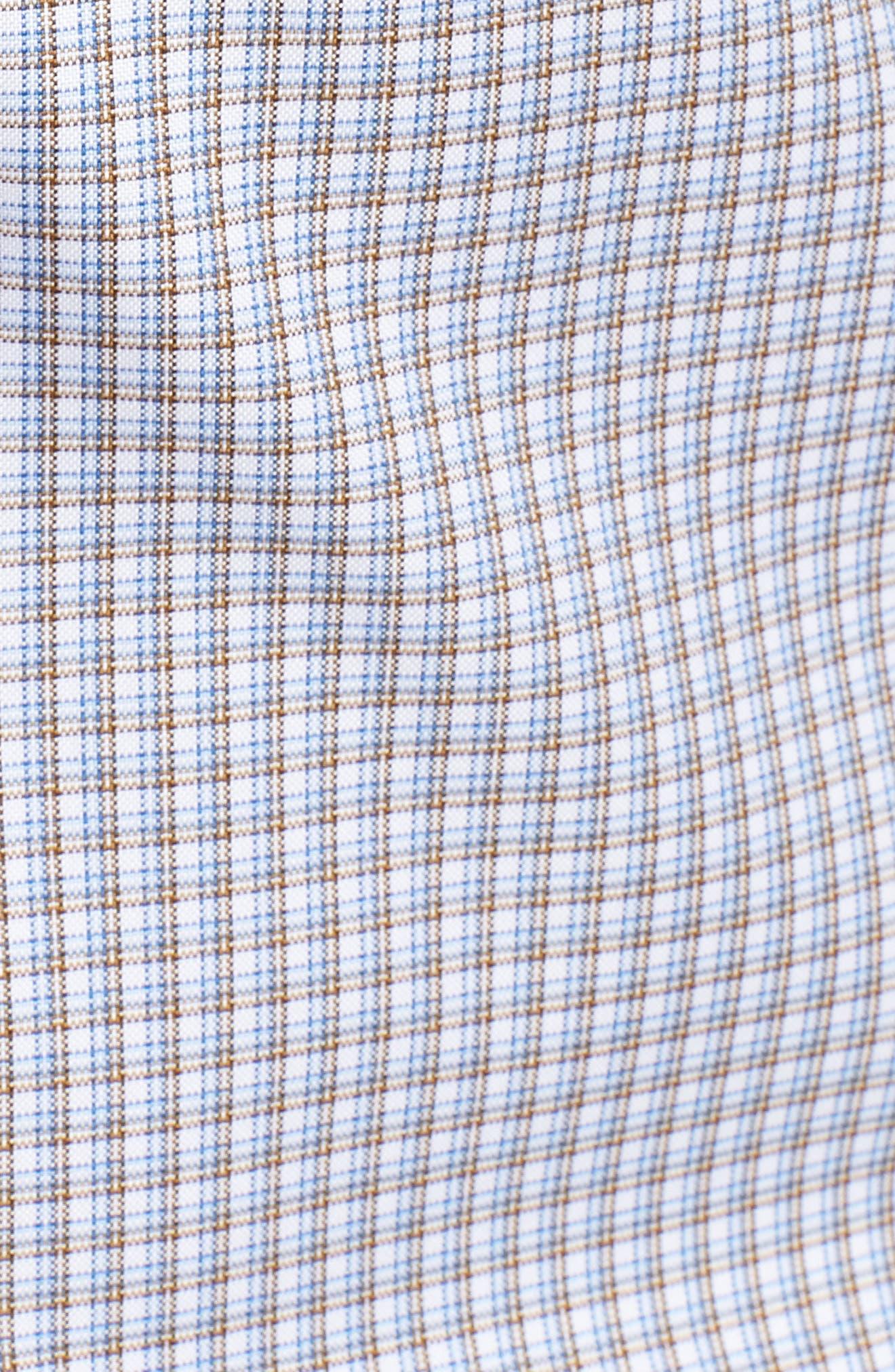 Sport Shirt,                             Alternate thumbnail 5, color,                             Blue/ Chocolate