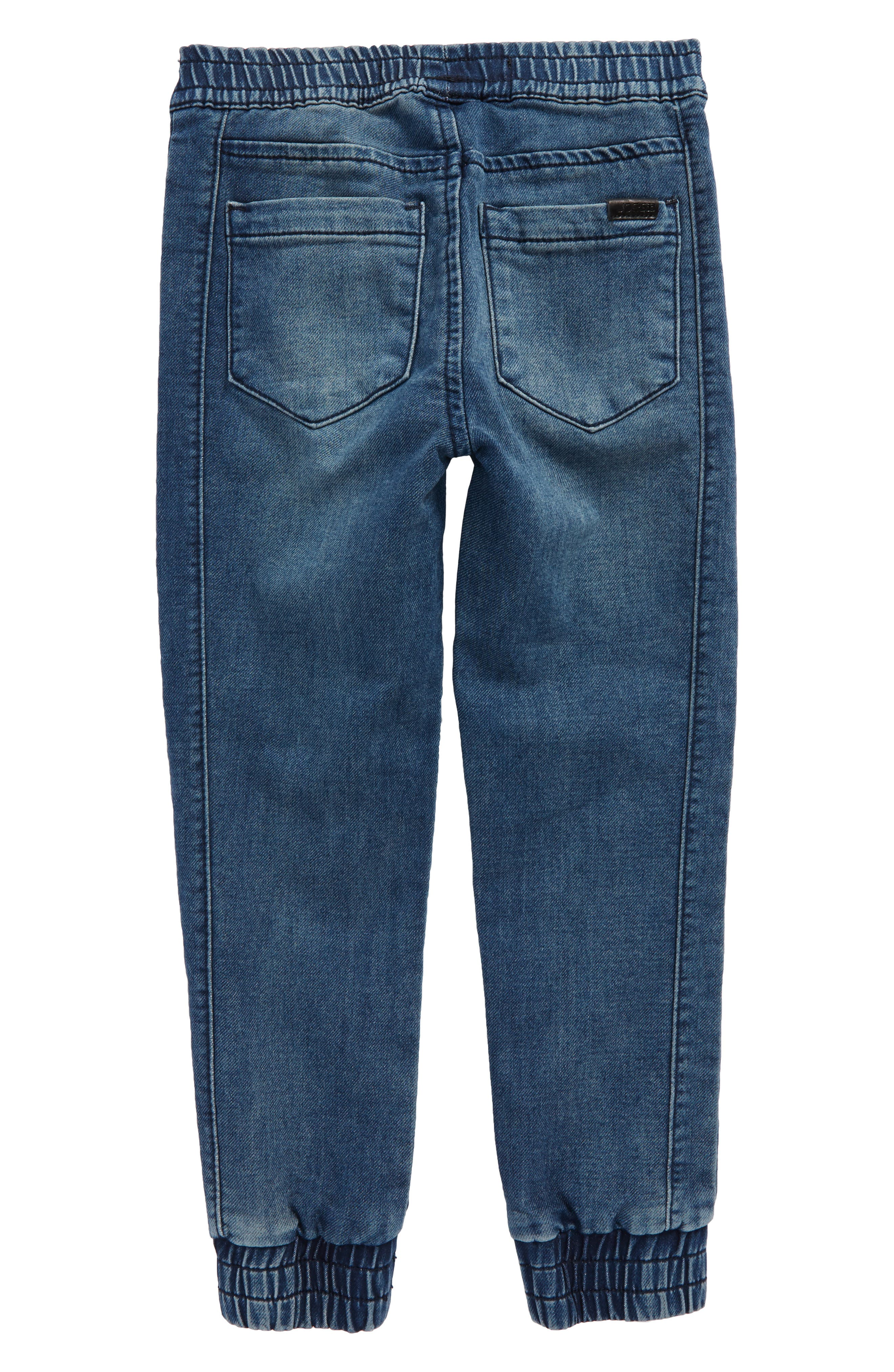 Slim Fit Denim Jogger Pants,                             Alternate thumbnail 2, color,                             Indigo