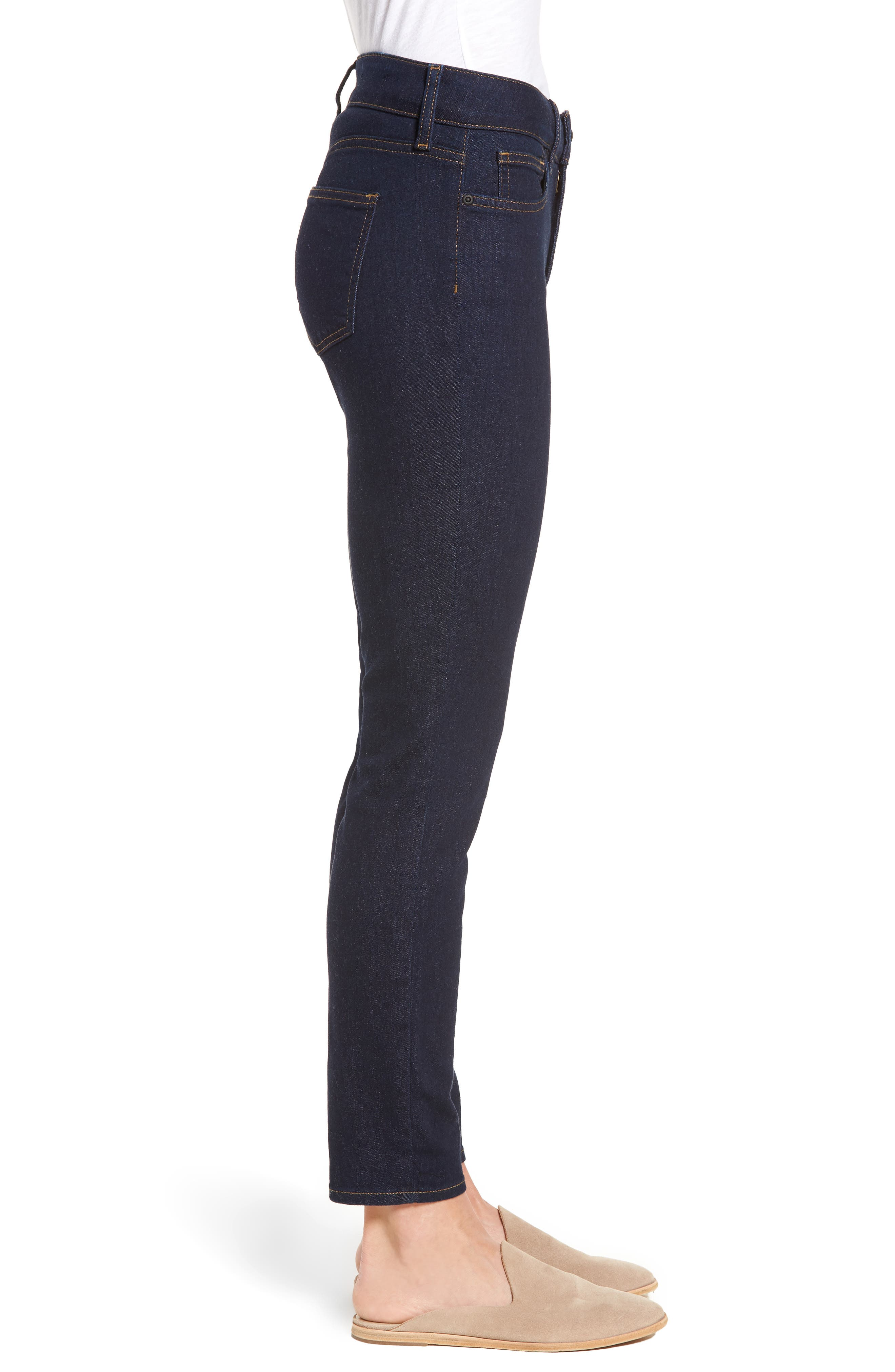 Alina Stretch Skinny Jeans,                             Alternate thumbnail 3, color,                             Rinse