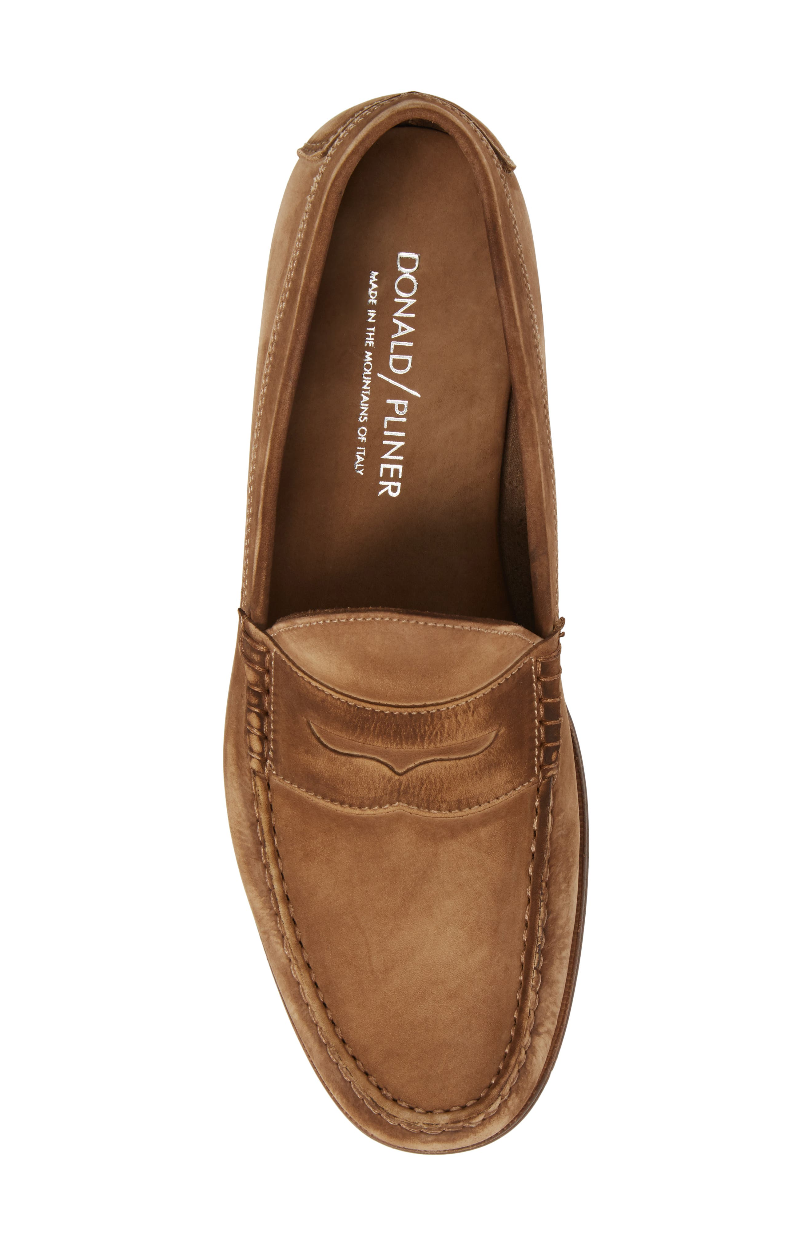 Nicola Penny Loafer,                             Alternate thumbnail 5, color,                             Chocolate Nubuck Leather