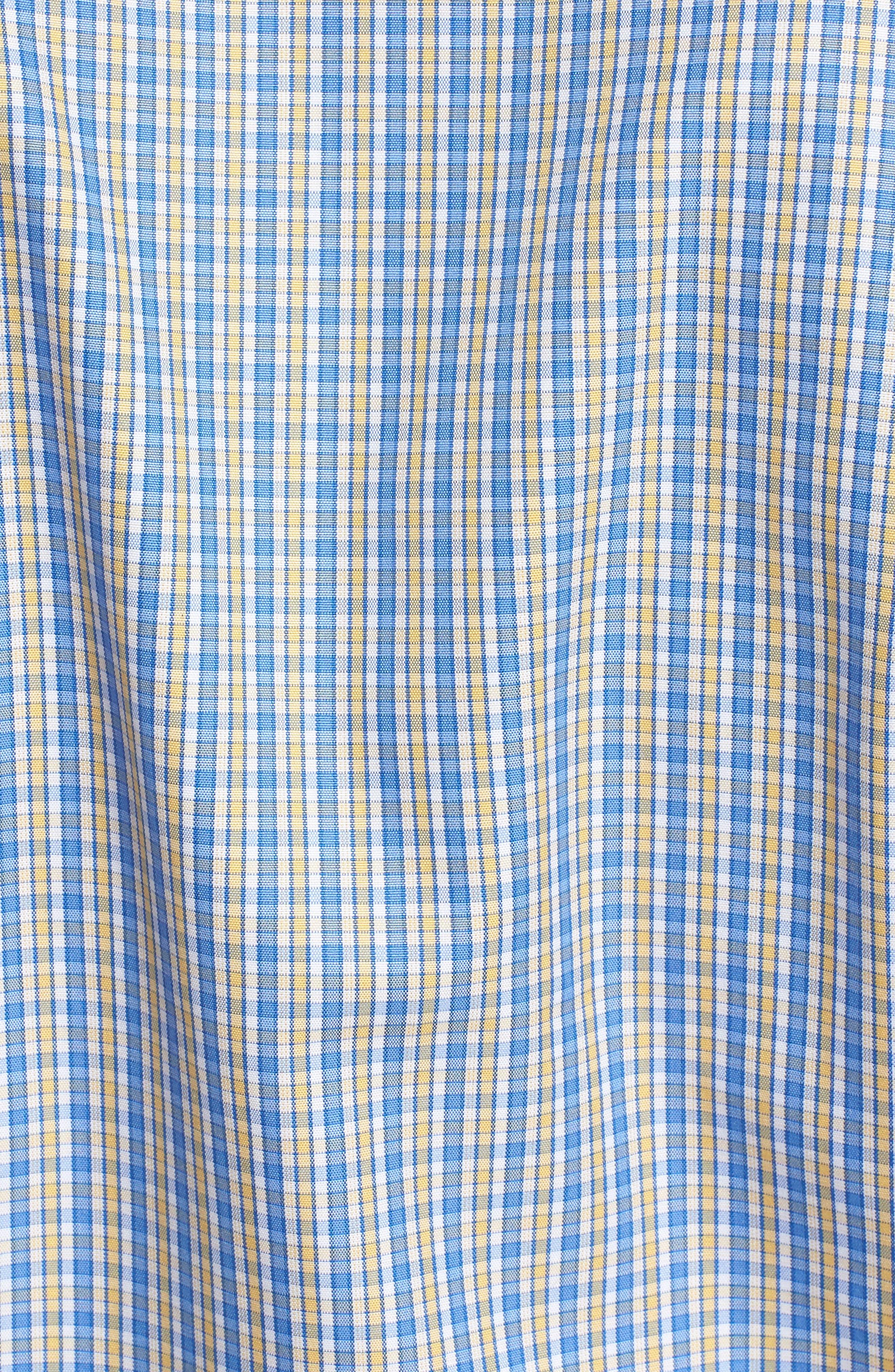 Sport Shirt,                             Alternate thumbnail 5, color,                             Blue/ Yellow