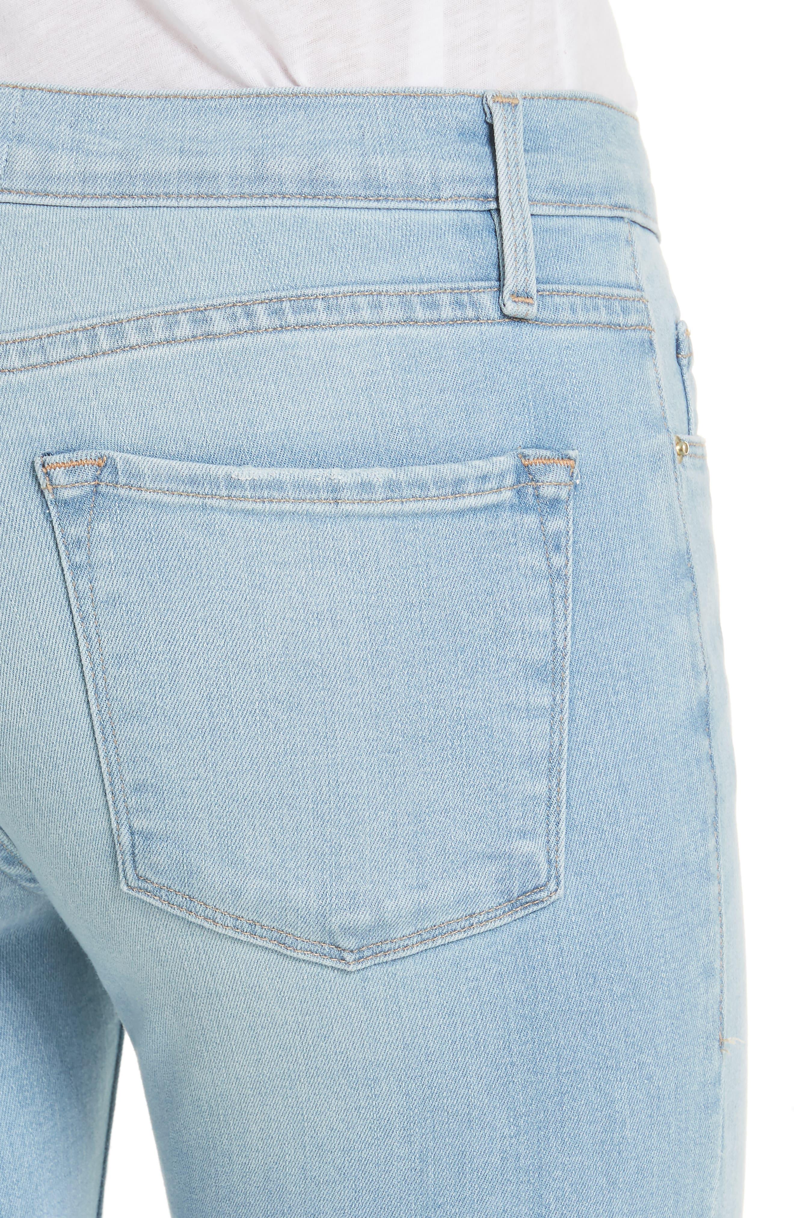 Le Skinny de Jeanne Raw Hem Crop Skinny Jeans,                             Alternate thumbnail 4, color,                             Jerome