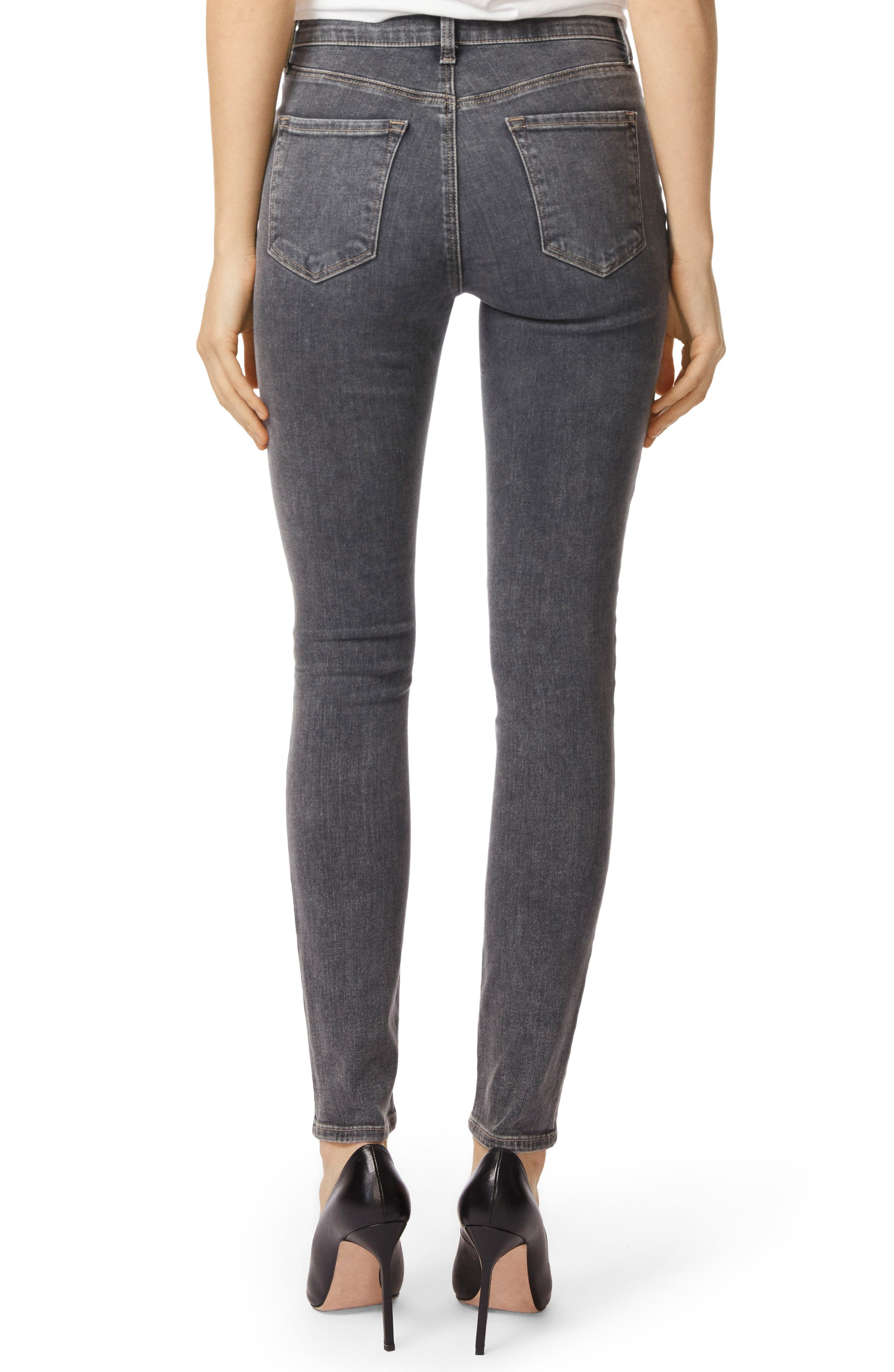 Maria High Waist Skinny Jeans,                             Alternate thumbnail 2, color,                             Obscura