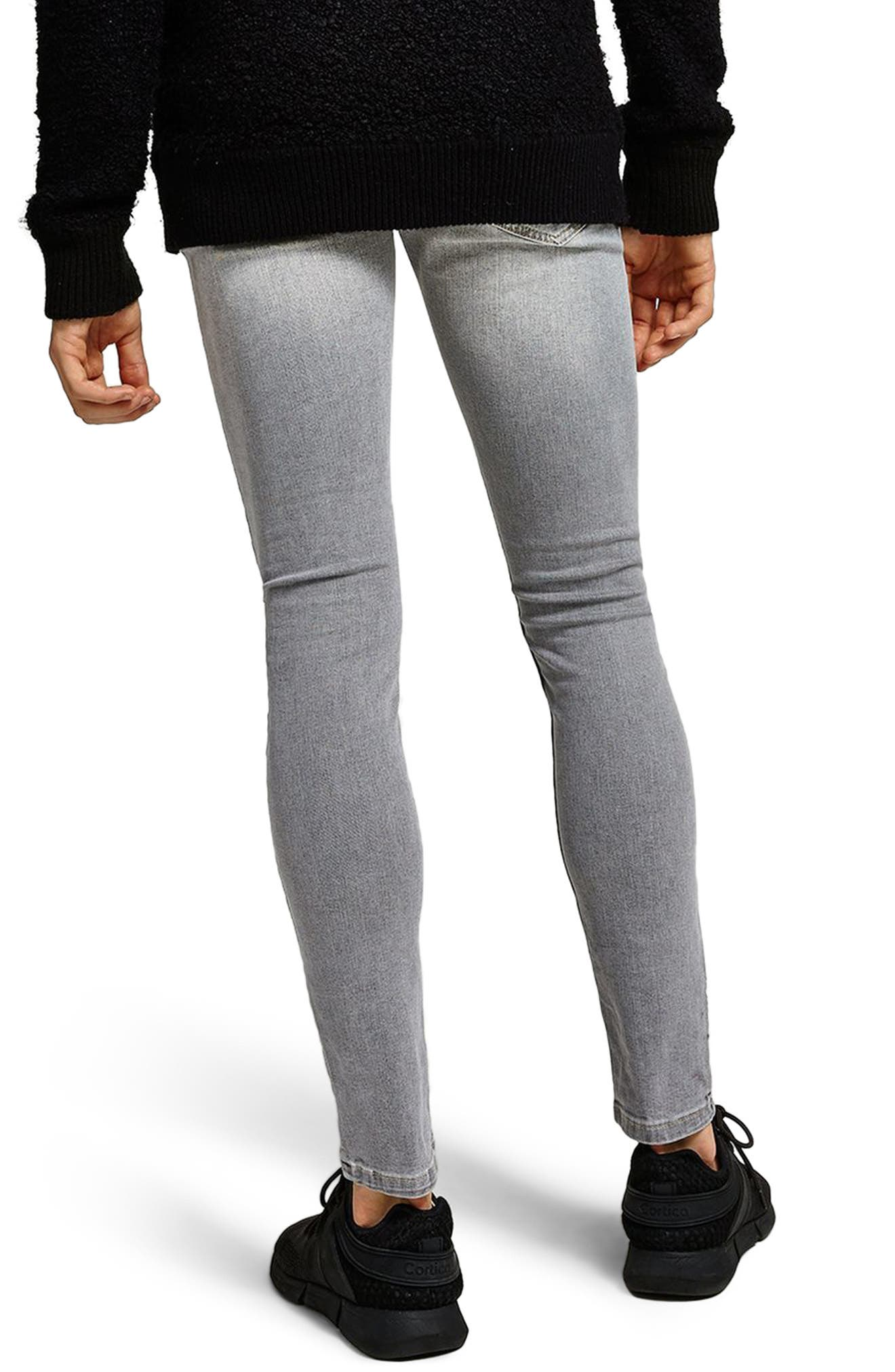 Spray-On Skinny Fit Jeans,                             Alternate thumbnail 2, color,                             Grey