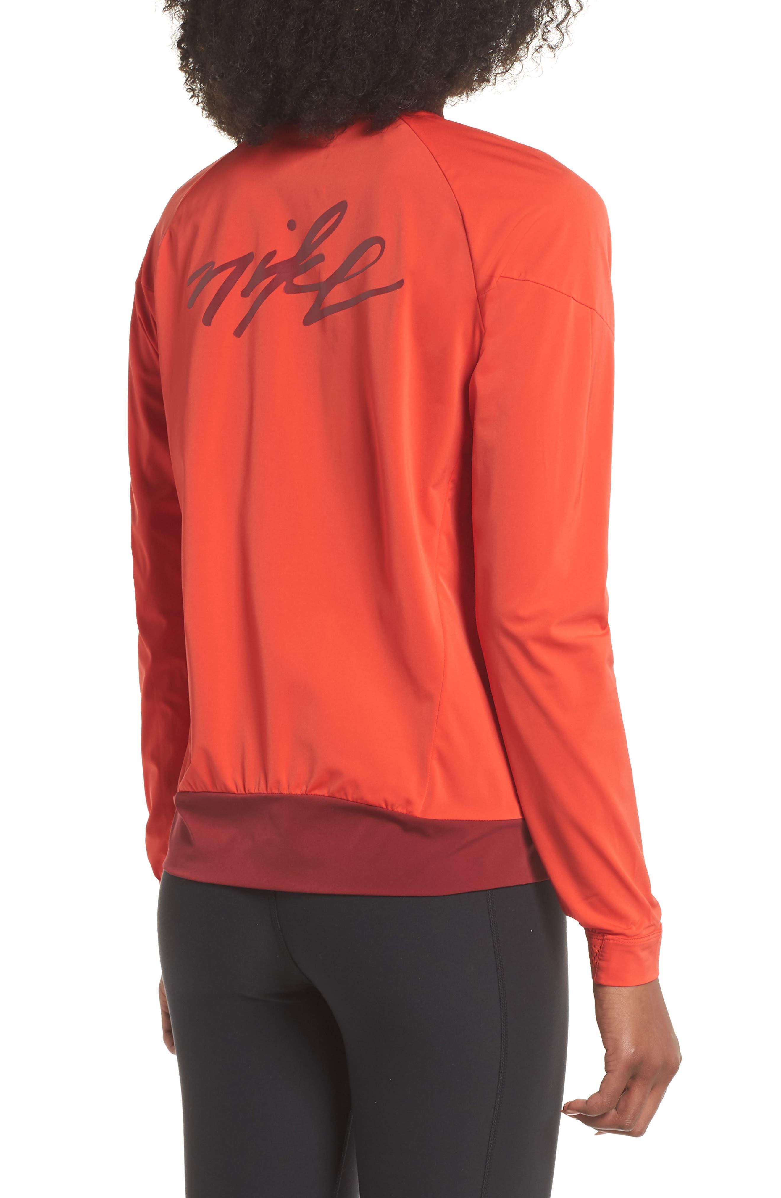 Dry Stadium Jacket,                             Alternate thumbnail 2, color,                             Habanero Red/ Coral