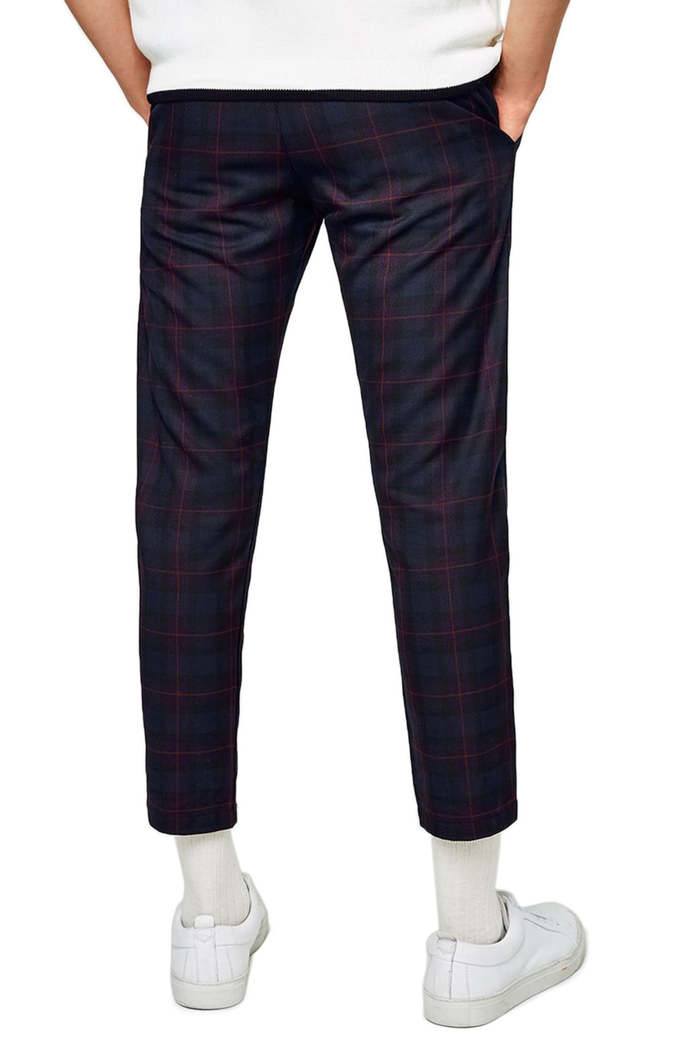Classic Fit Check Woven Jogger Pants,                             Alternate thumbnail 2, color,                             Purple