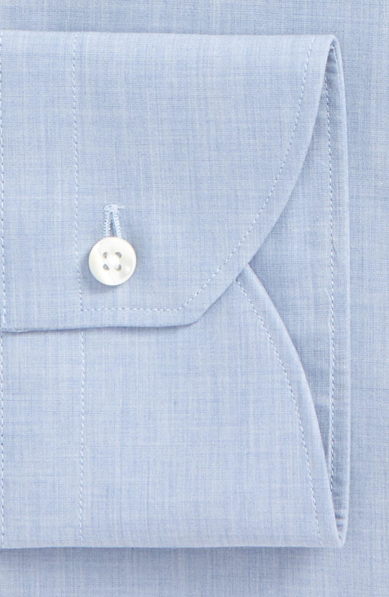 Regular Fit Solid Dress Shirt,                             Alternate thumbnail 2, color,                             Med Blue