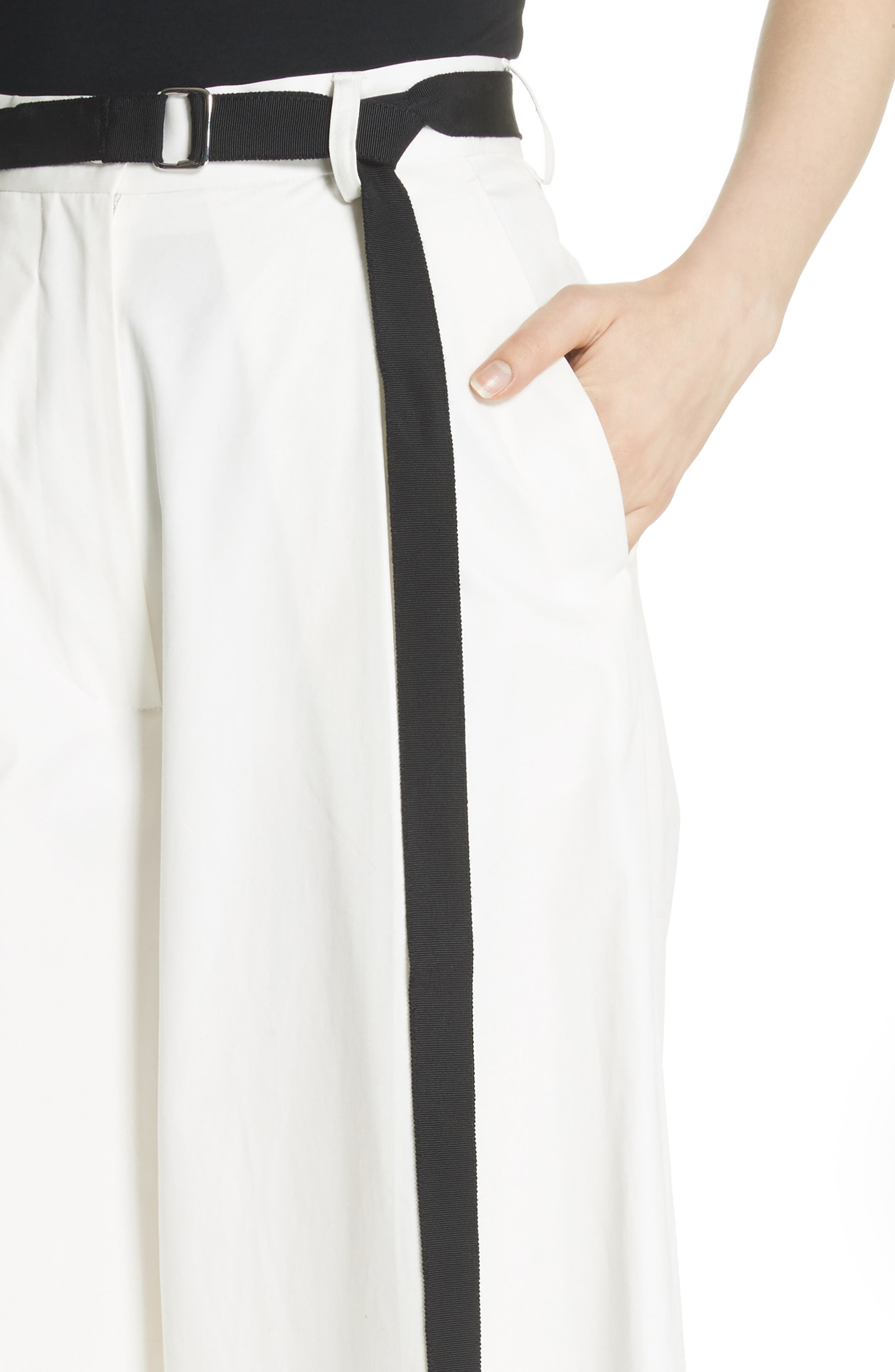 High Waist Wide Leg Pants,                             Alternate thumbnail 6, color,                             Ivory