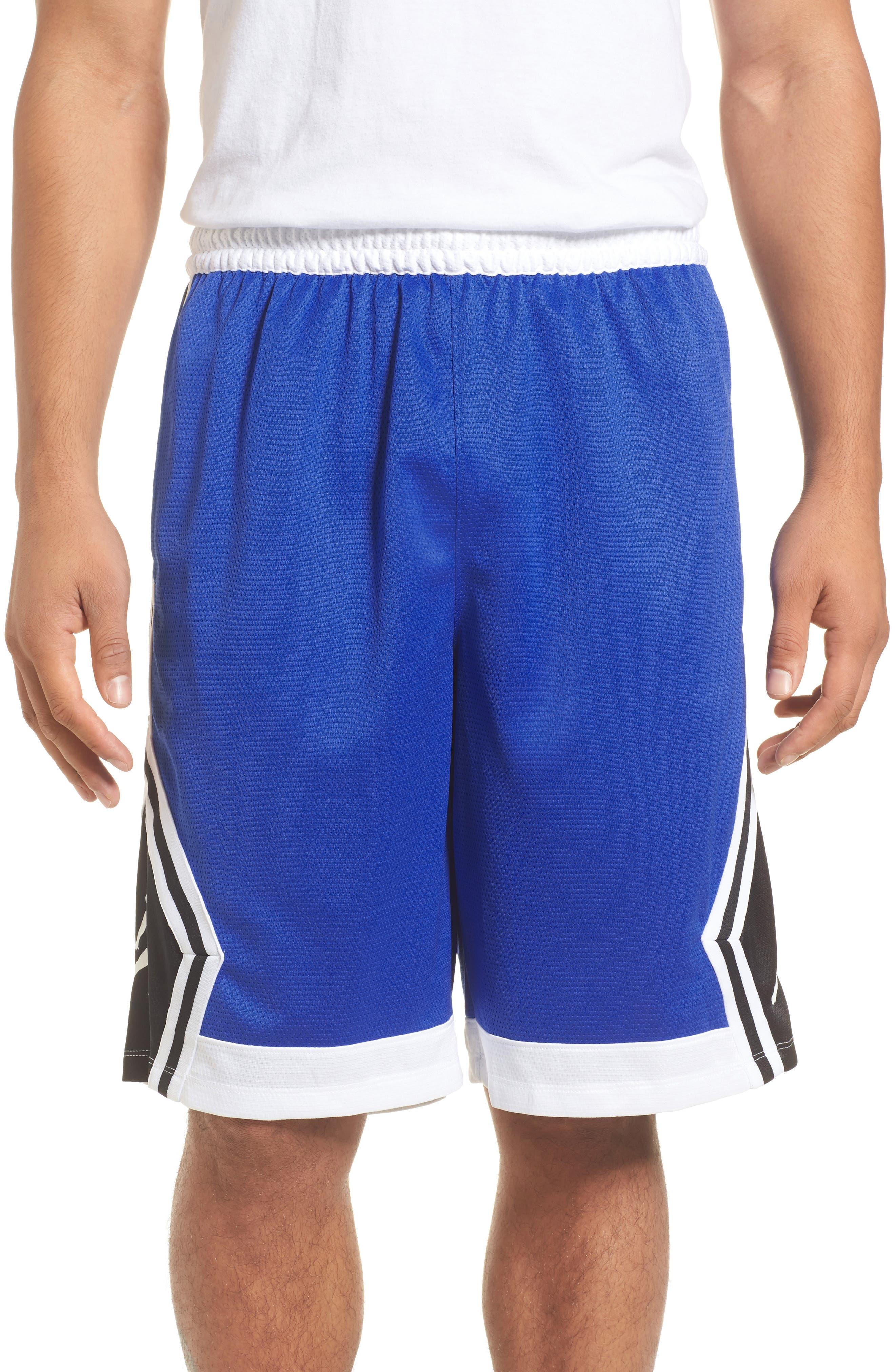 Sportswear Rise Diamond Shorts,                             Main thumbnail 1, color,                             Hyper Royal/ White/ Black