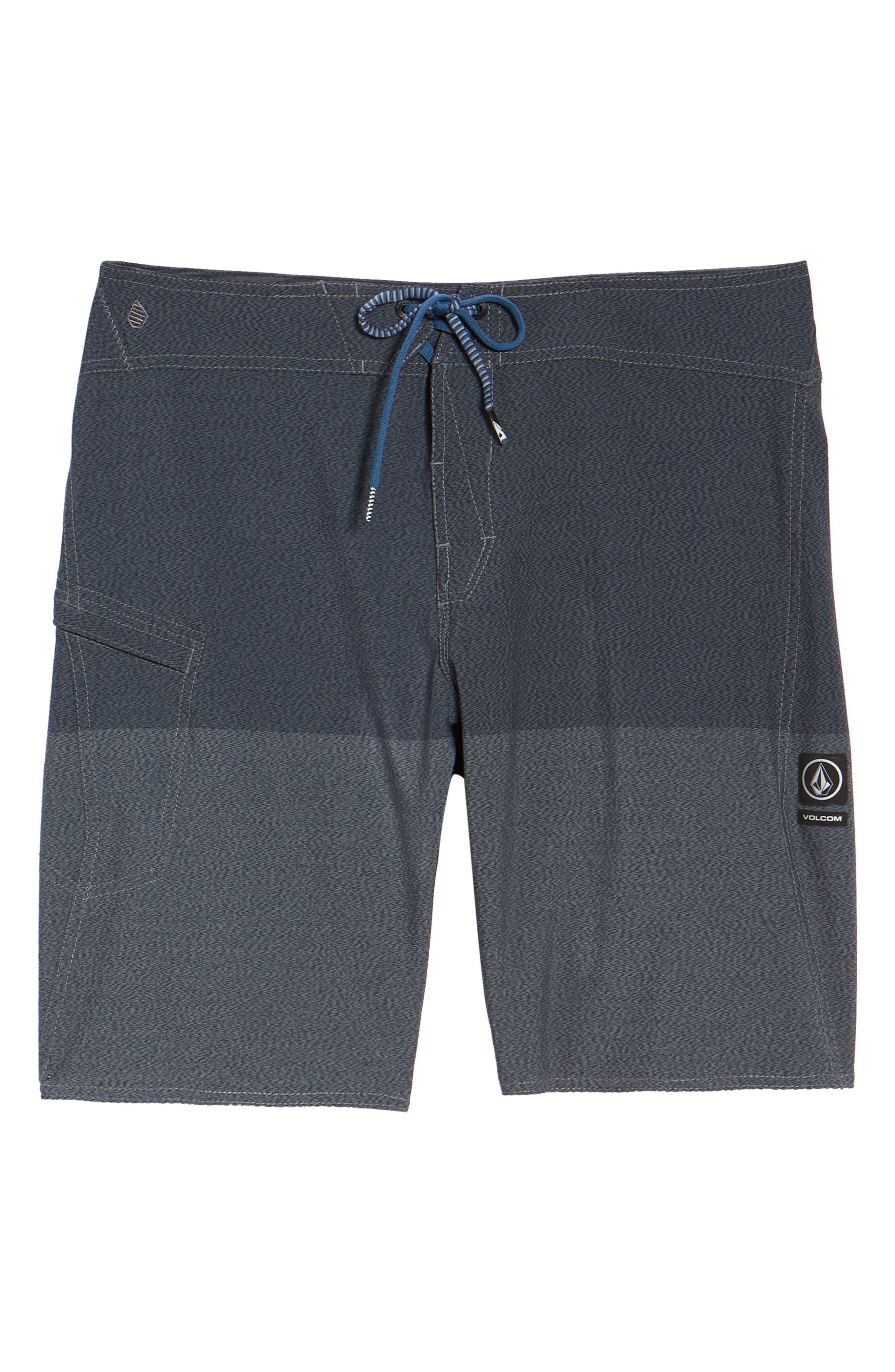 Lido Heather Board Shorts,                             Alternate thumbnail 6, color,                             Blue Smoke