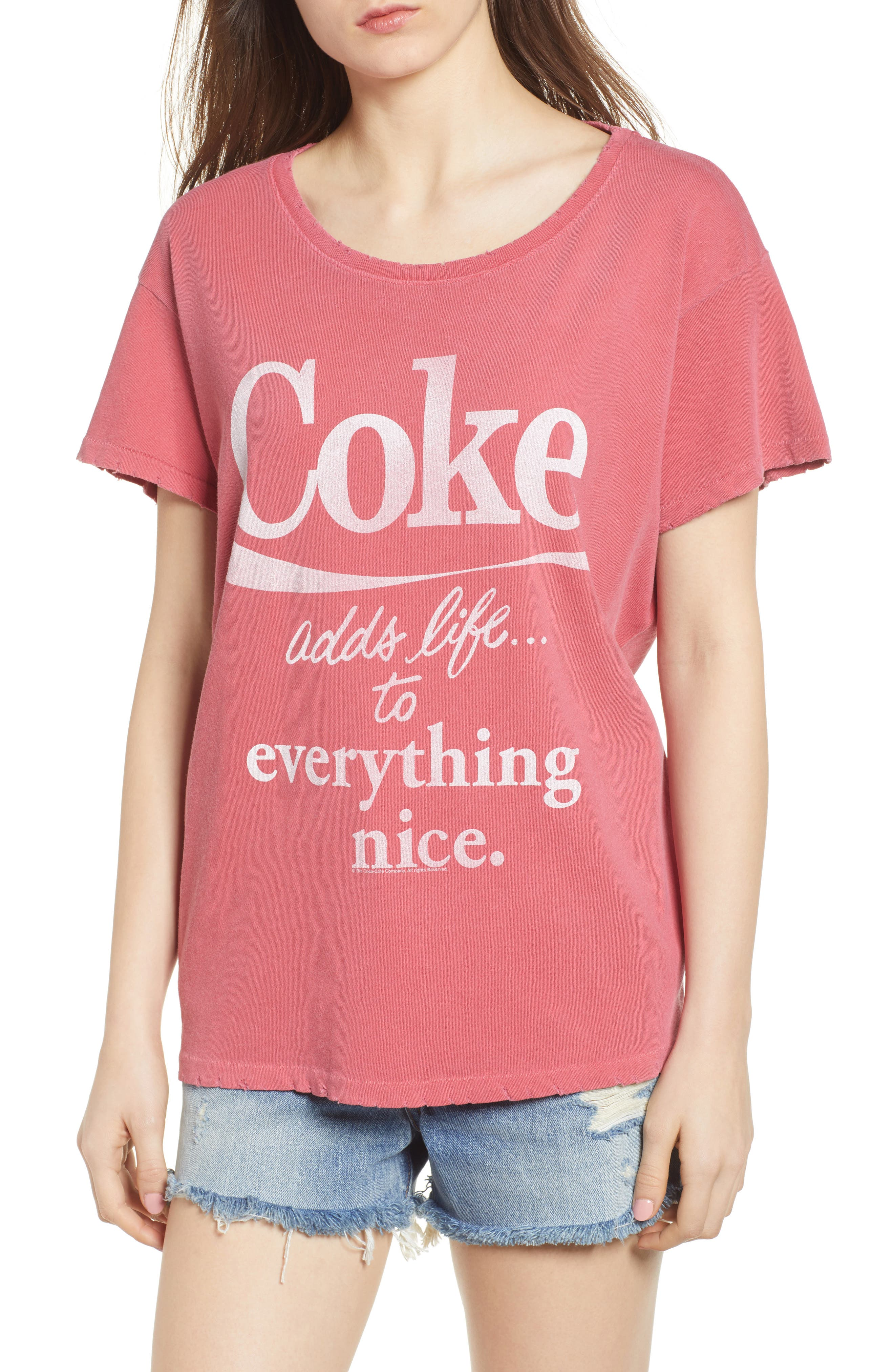 Coke Tee,                         Main,                         color, Washed Red