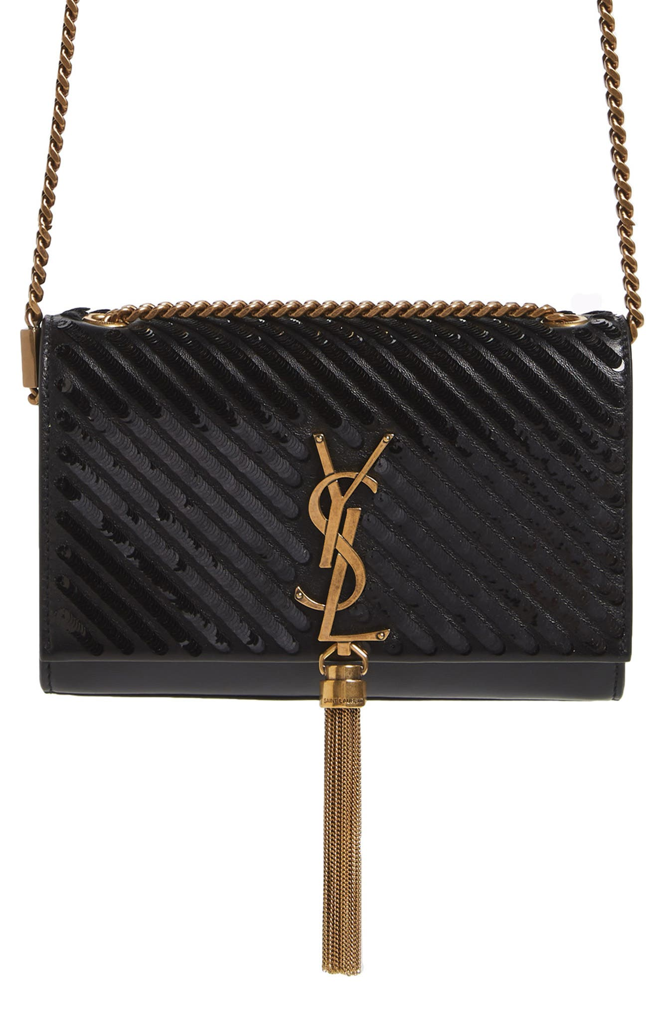Saint Laurent Small Kate Sequin Leather Crossbody Bag
