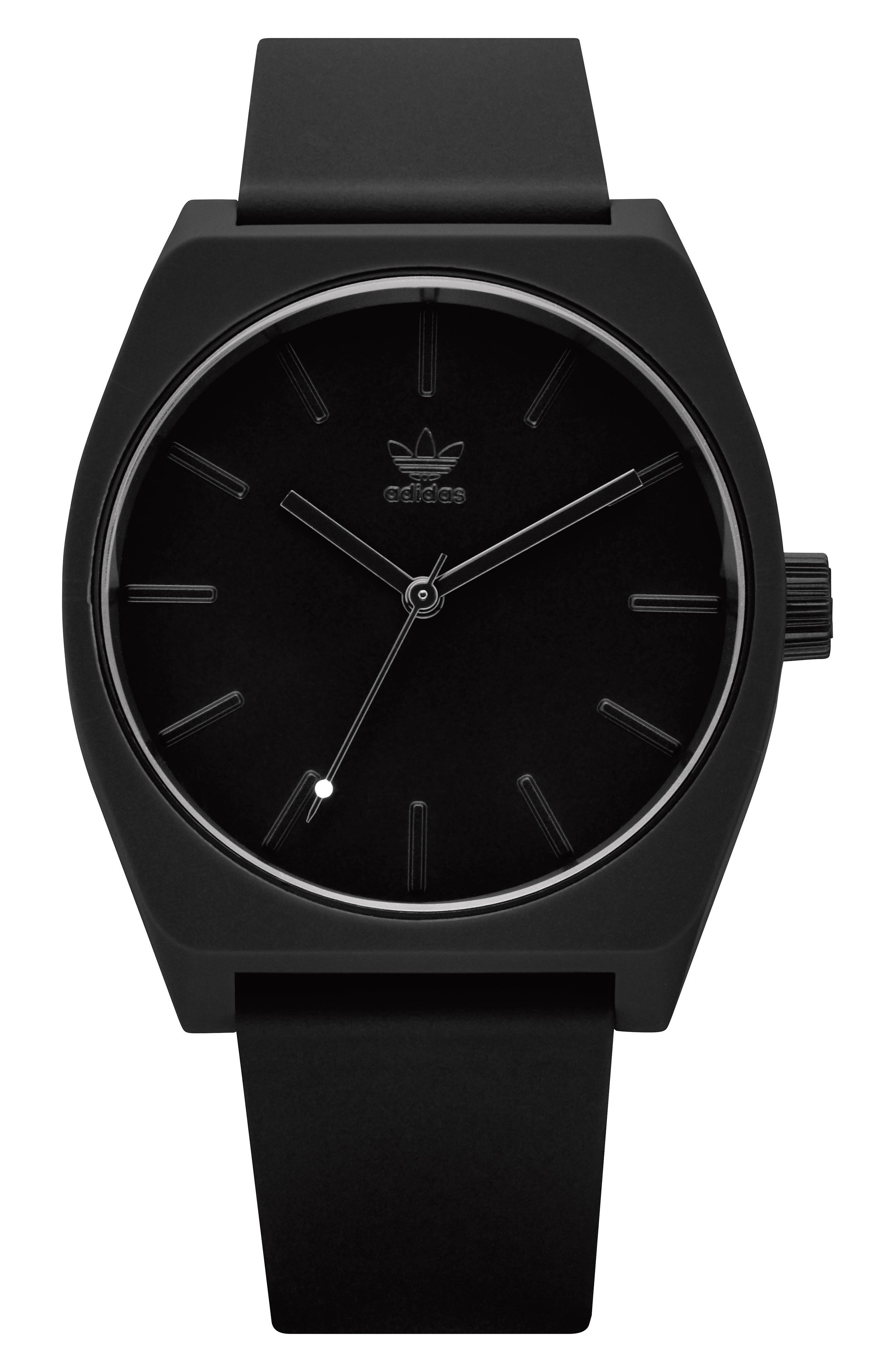 Process Silicone Strap Watch, 38mm,                             Main thumbnail 1, color,                             Black