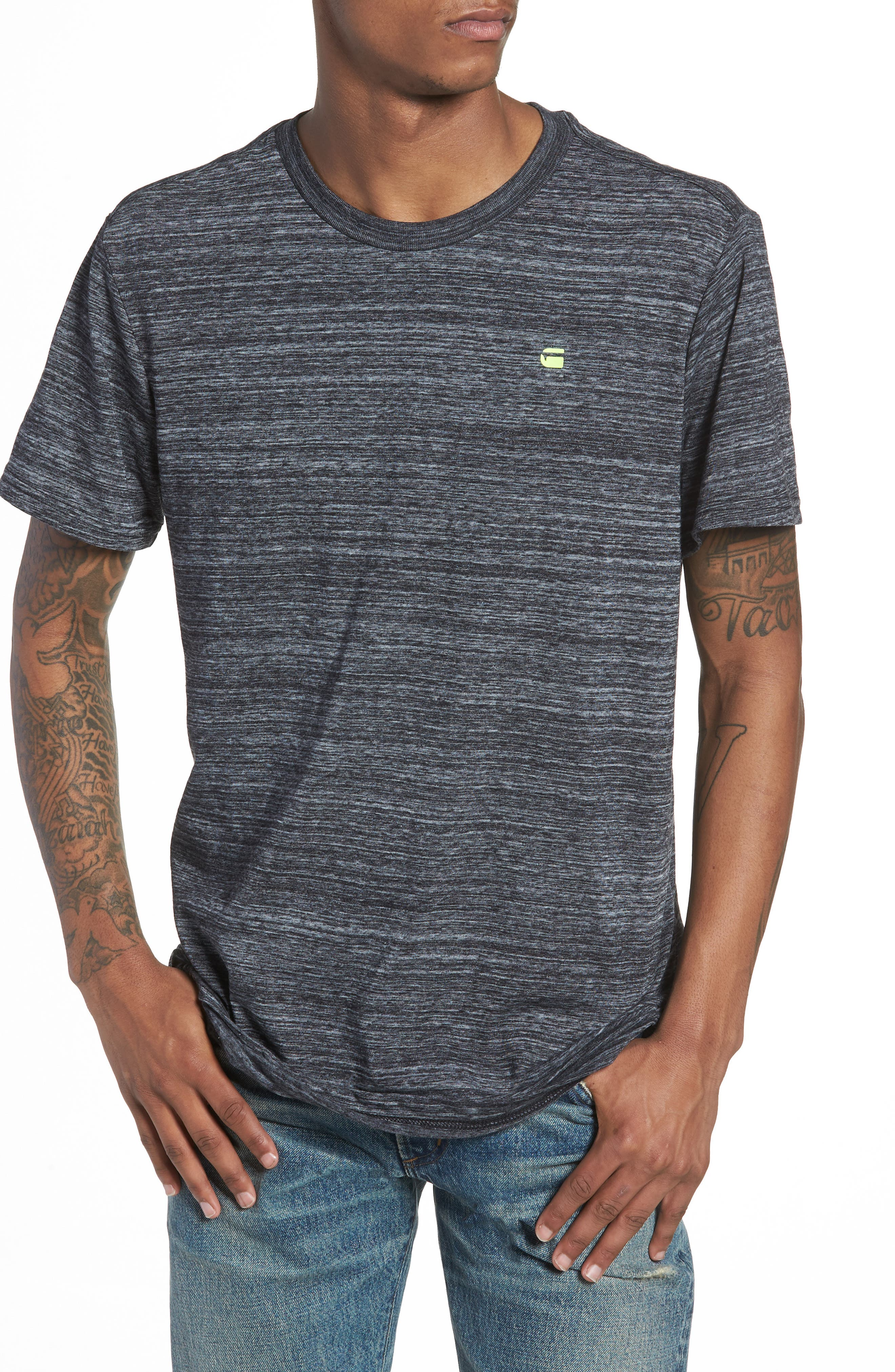 New Classic Regular T-Shirt,                             Main thumbnail 1, color,                             Dark Black Heather