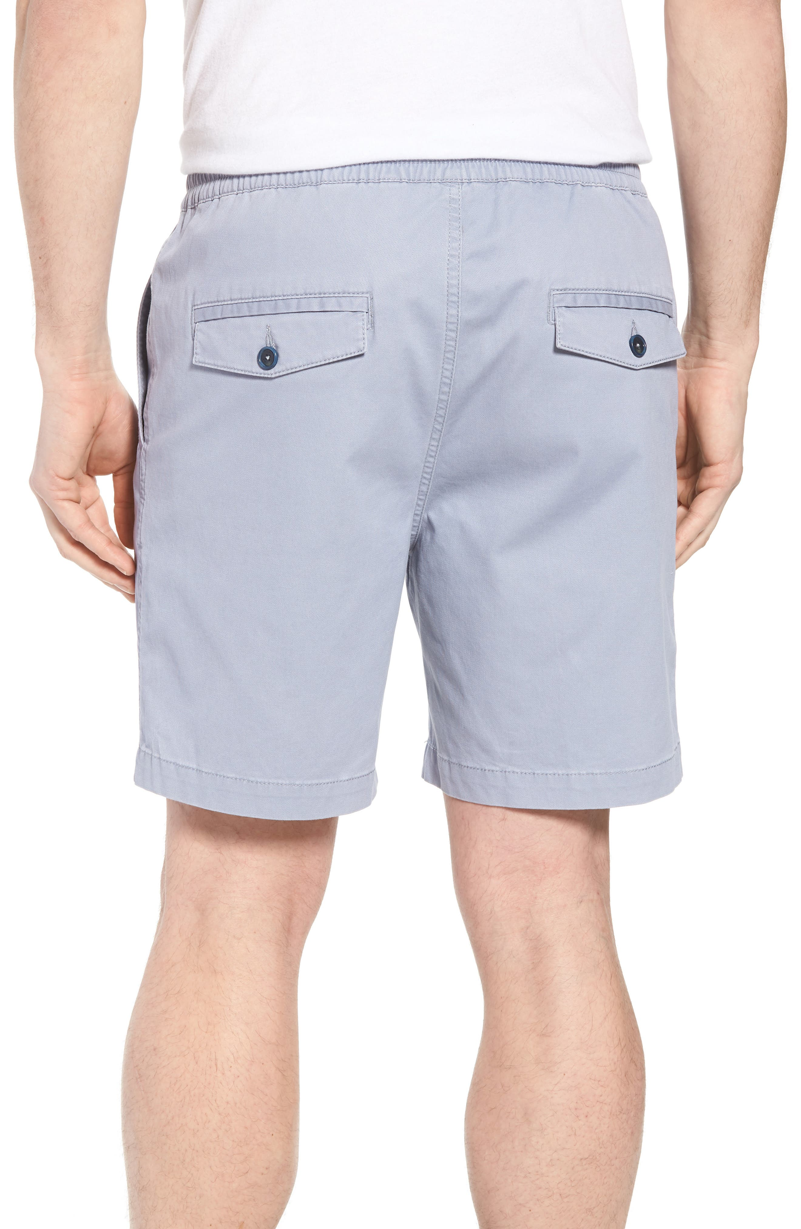 Drawstring Bedford Corduroy Shorts,                             Alternate thumbnail 2, color,                             Silver Blue