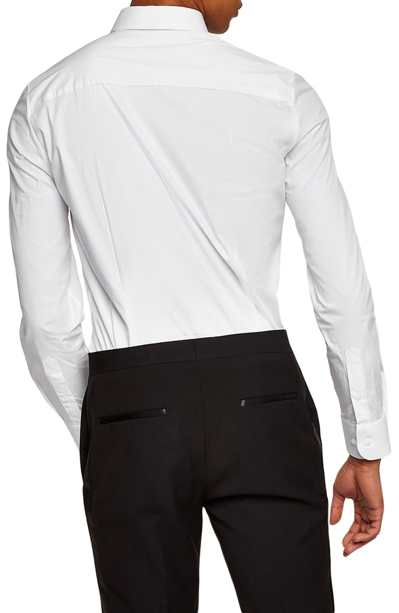 Penny Collar Shirt,                             Alternate thumbnail 3, color,                             White Multi