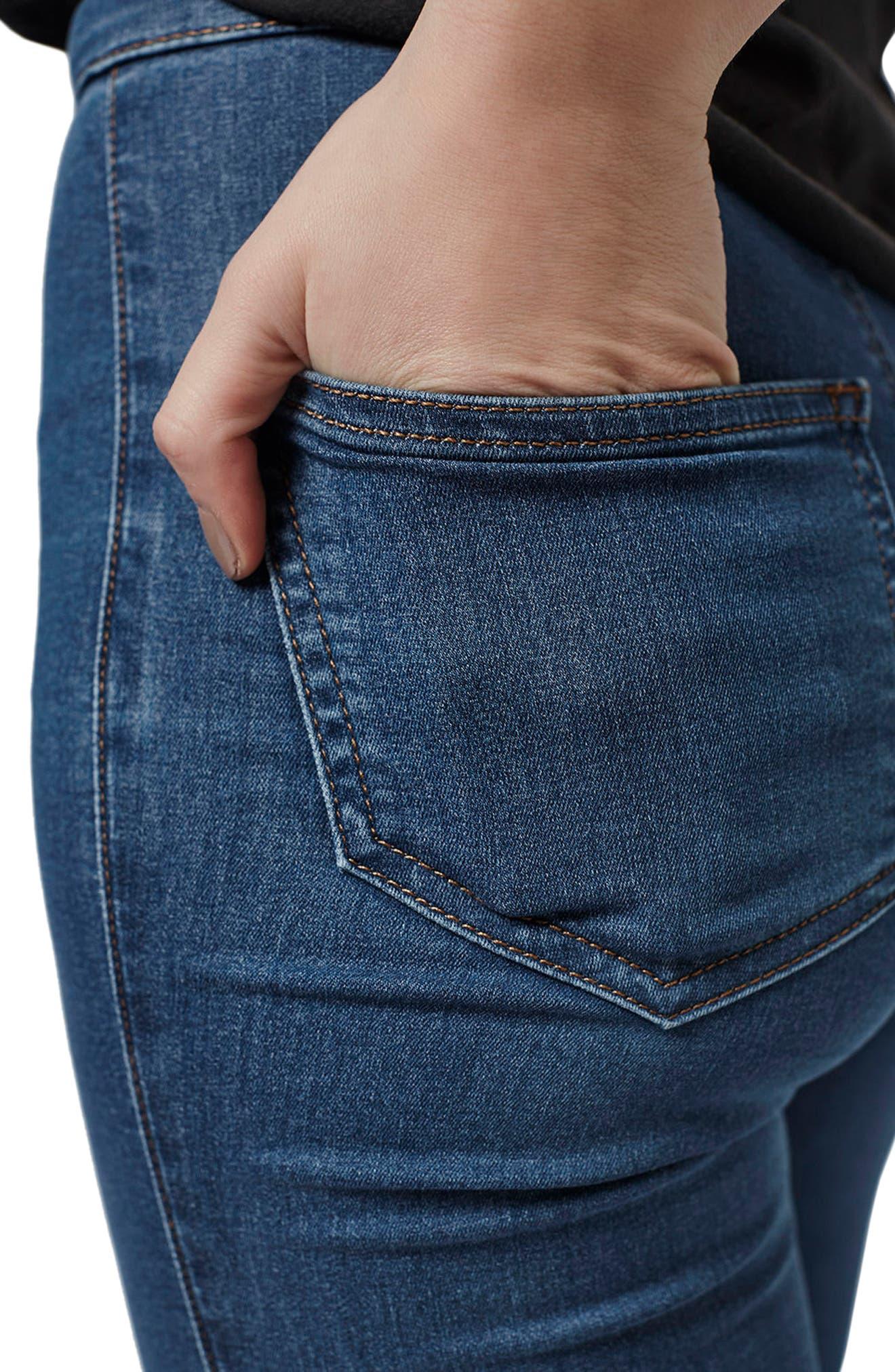 Joni Mid Denim Jeans,                             Alternate thumbnail 4, color,                             Mid Denim