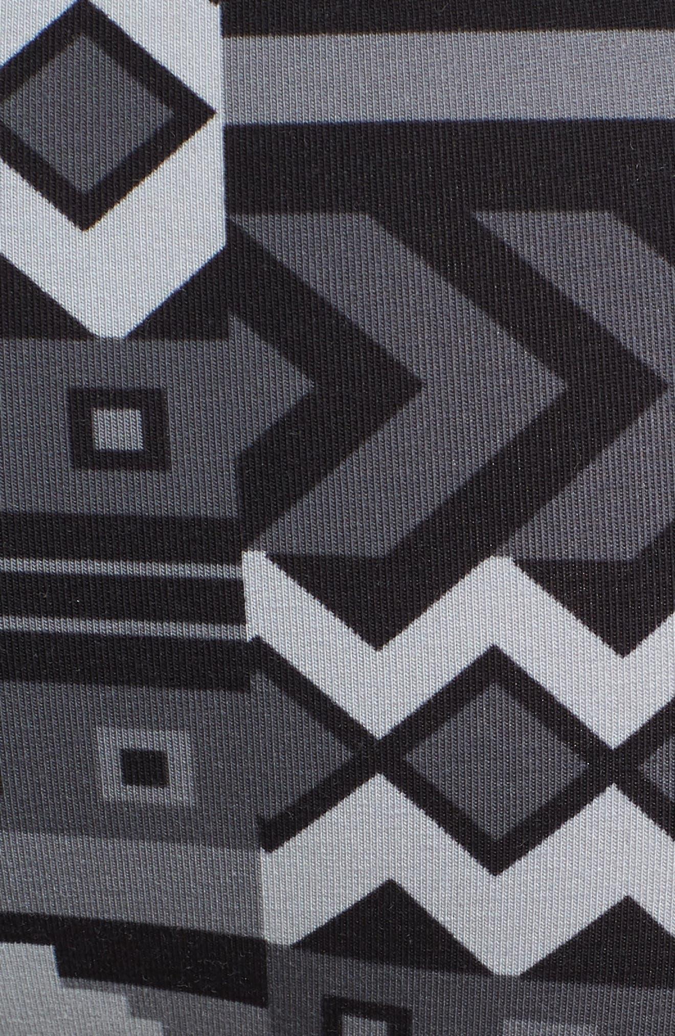 Block Puzzle Stretch Cotton Boxer Briefs,                             Alternate thumbnail 5, color,                             Black
