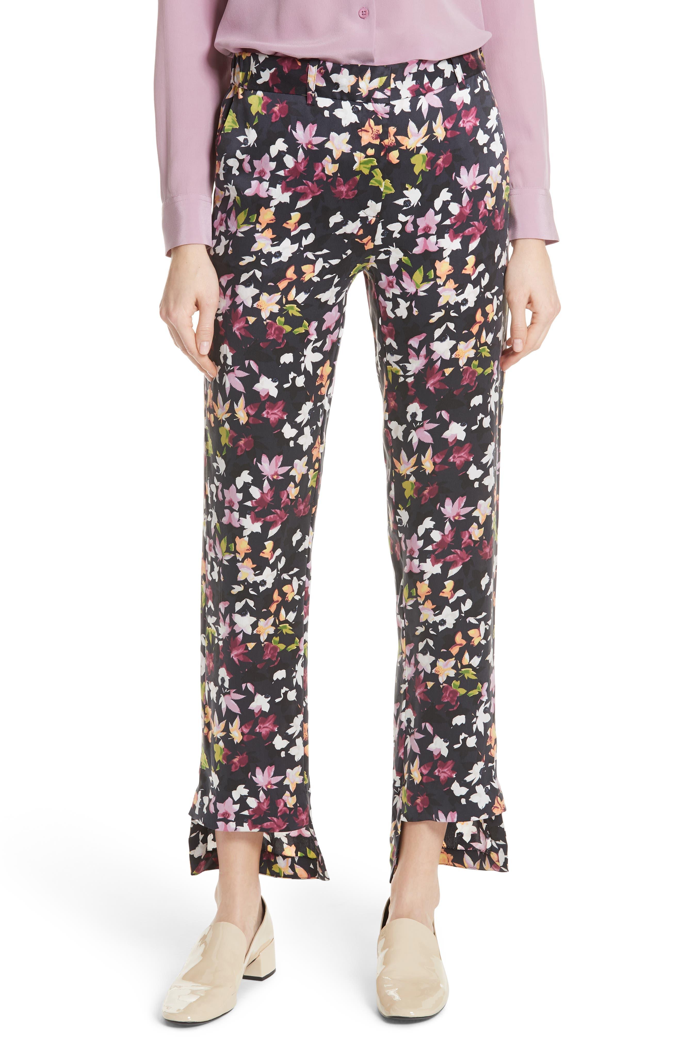 Equipment Florence Floral Step Hem Pants