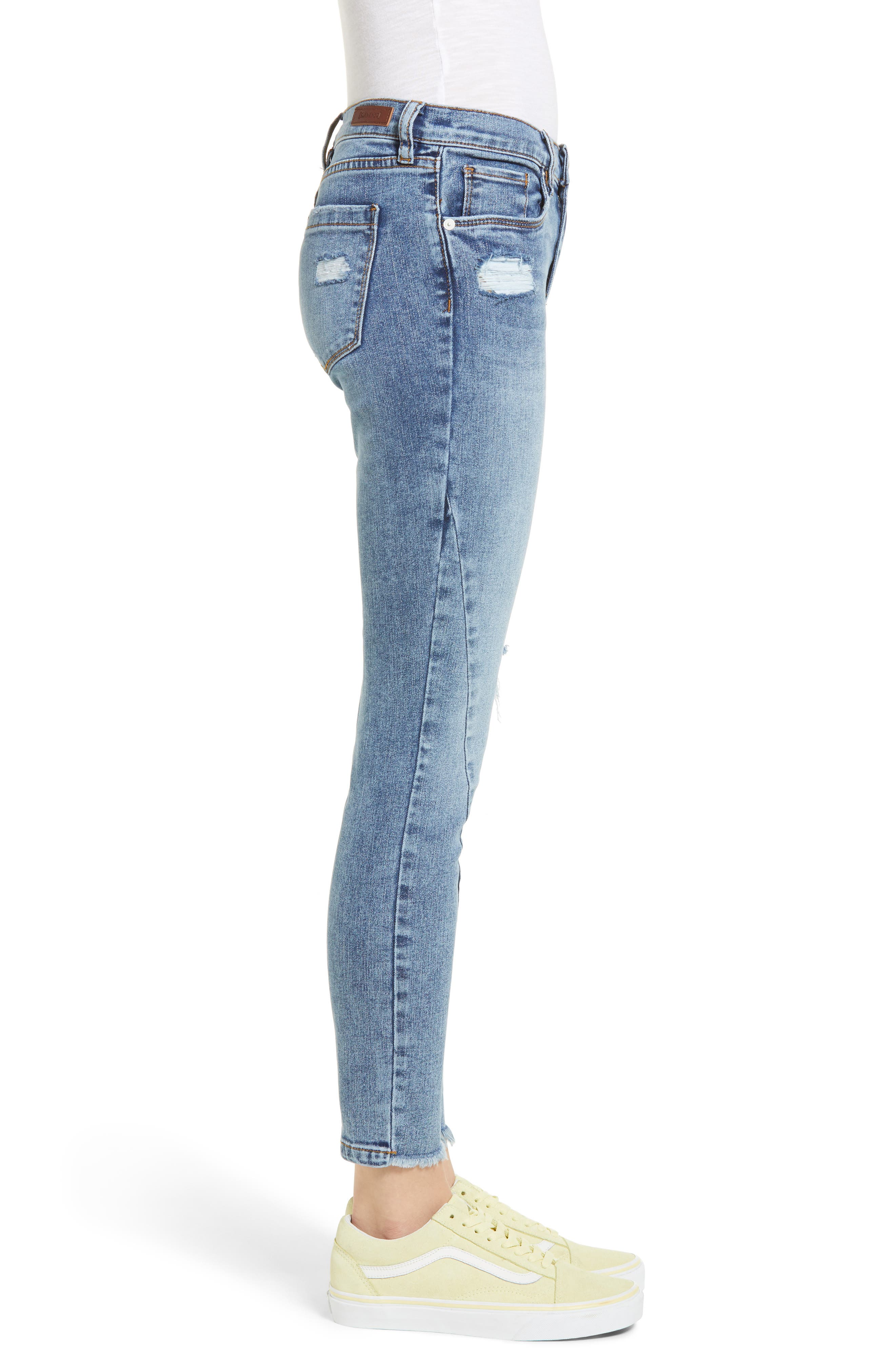 The Reade Seam Detail Skinny Jeans,                             Alternate thumbnail 3, color,                             Burn Notice
