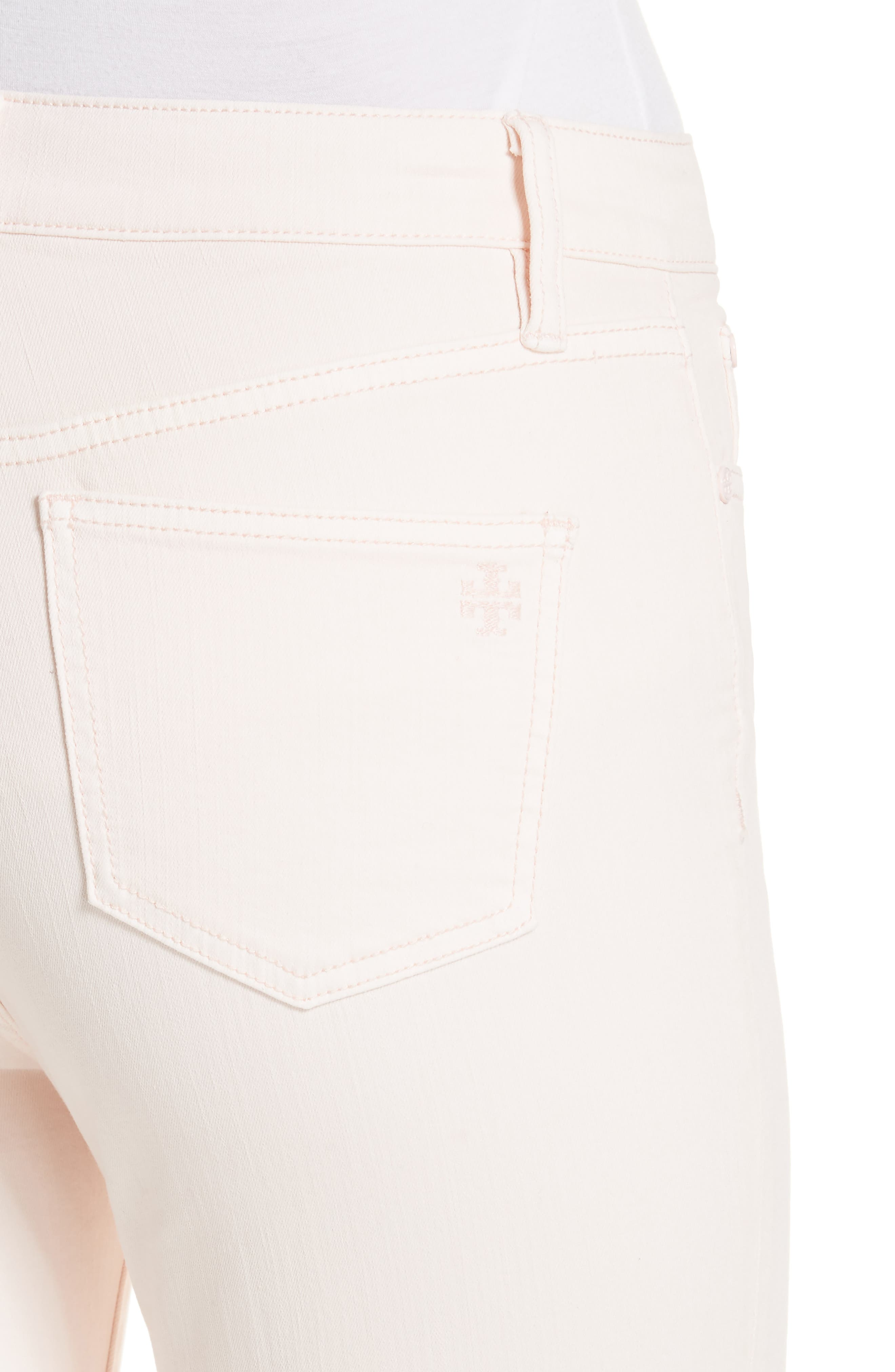Mara Crop Skinny Jeans,                             Alternate thumbnail 5, color,                             Ballet Pink