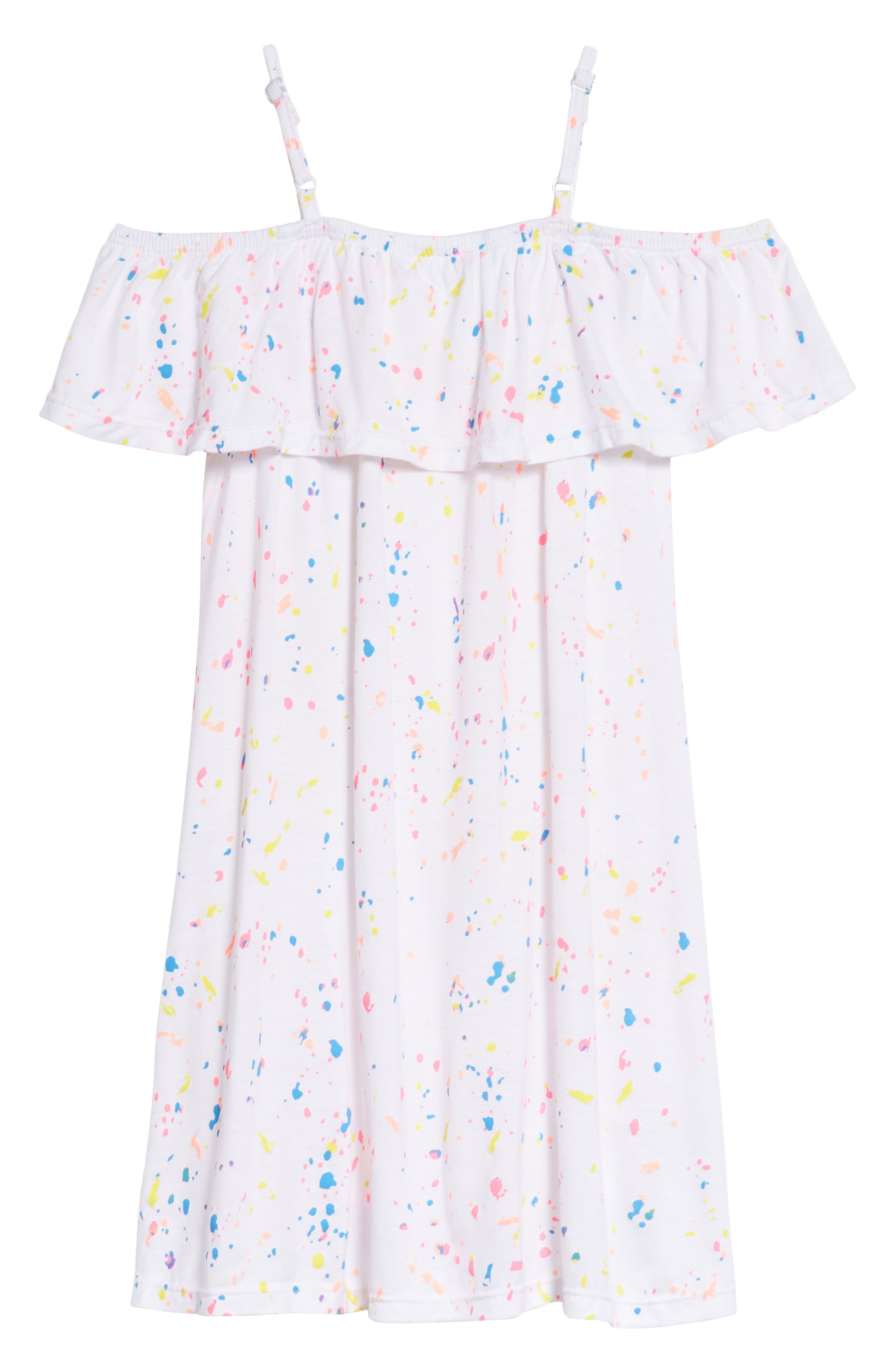Alternate Image 2  - Flowers by Zoe Splatter Dress (Little Girls & Big Girls)