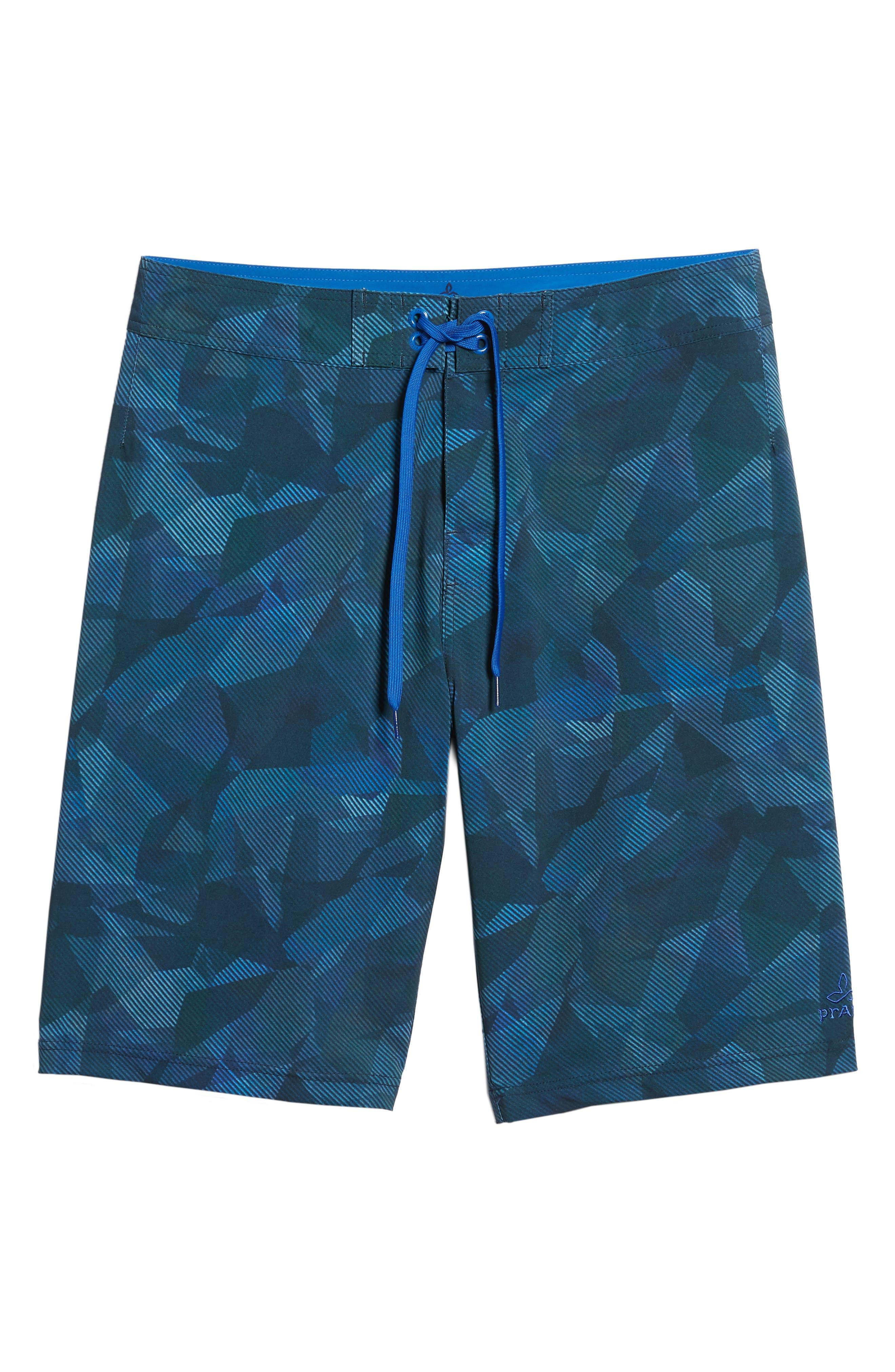 'Sediment' Stretch Board Shorts,                         Main,                         color, Island Blue Hex