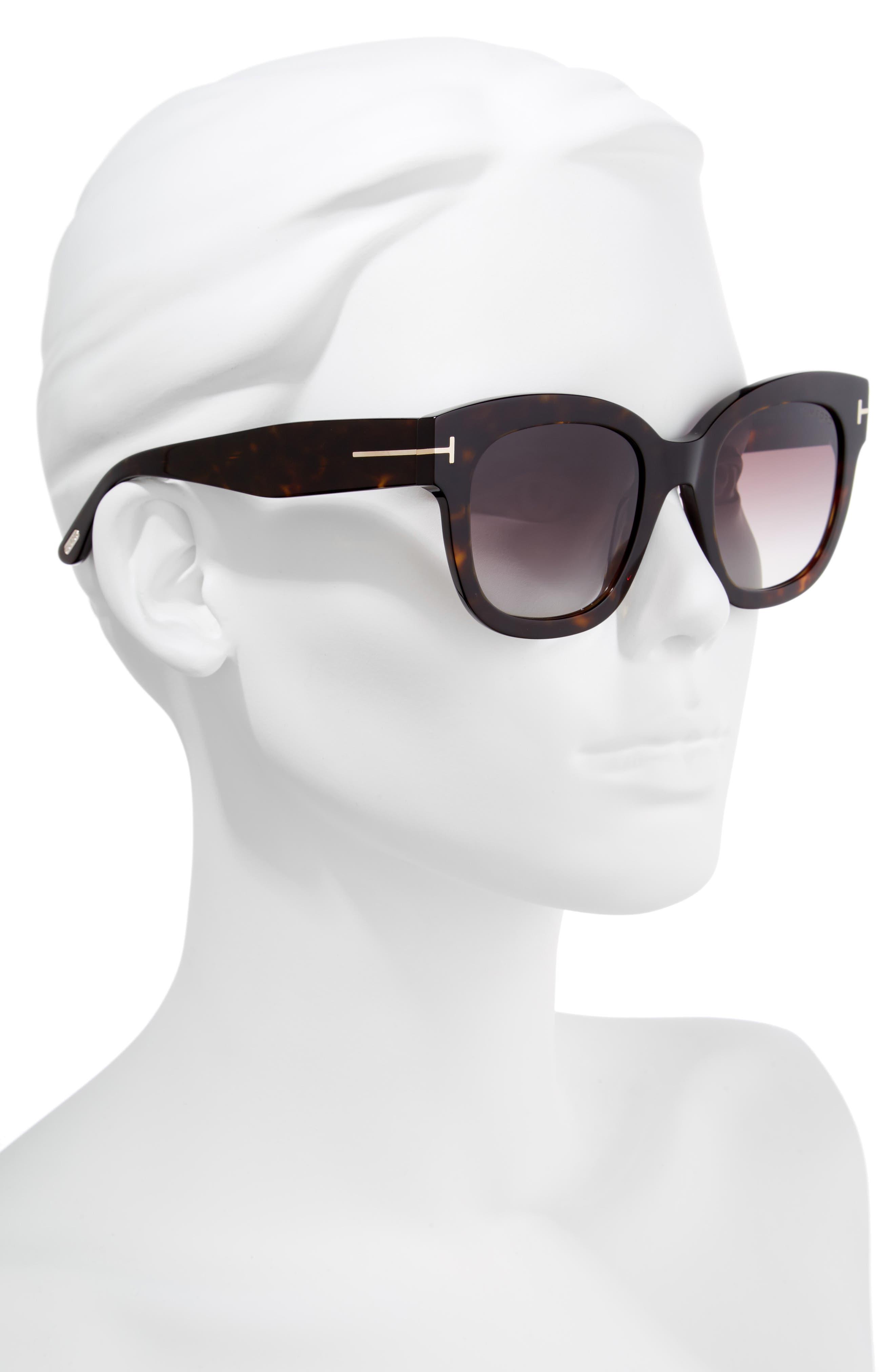 Beatrix 52mm Sunglasses,                             Alternate thumbnail 2, color,                             Dark Havana/ Gradient Bordeaux
