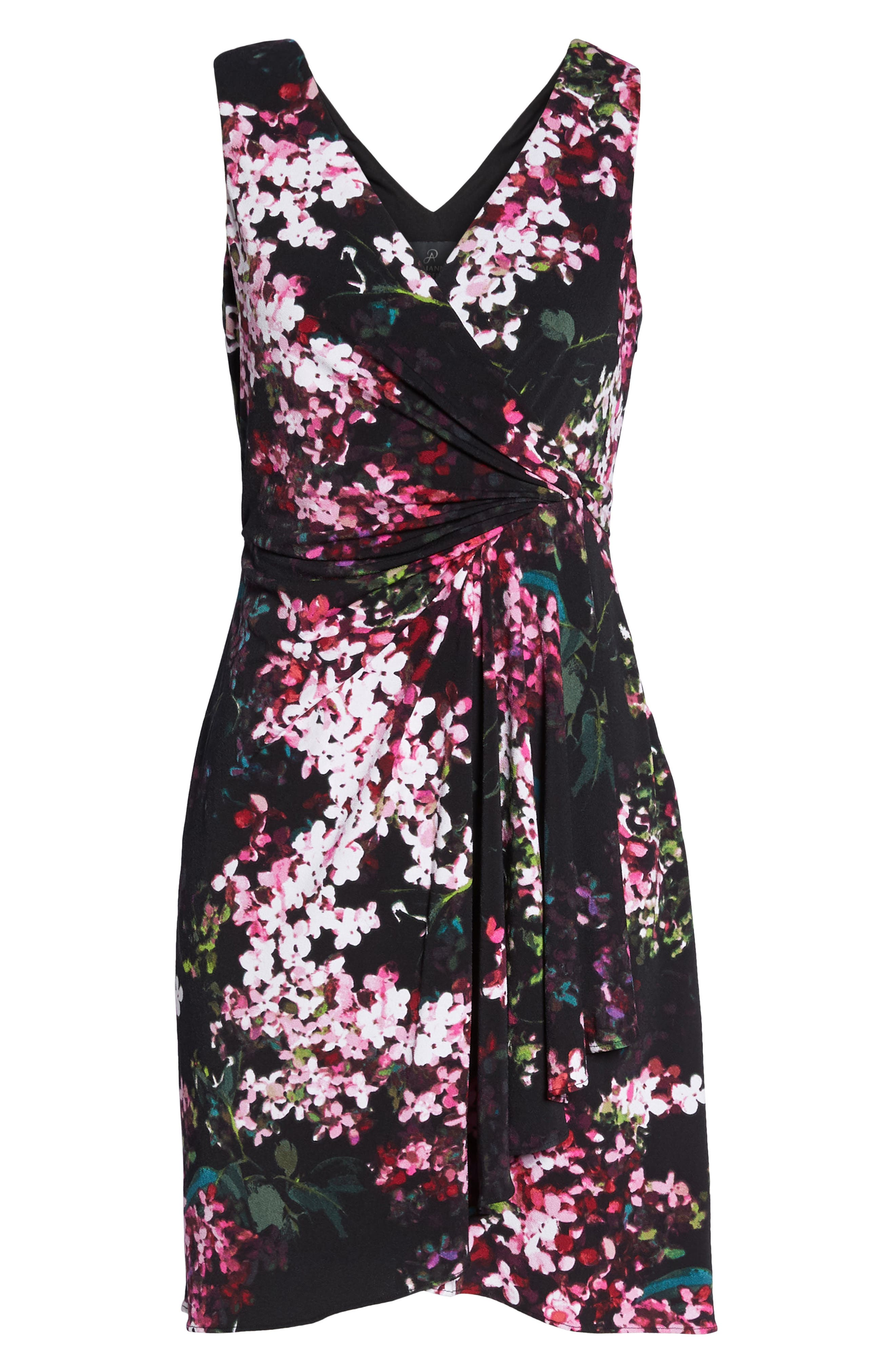 Alternate Image 6  - Adrianna Papell Floral Print Twist Front Dress