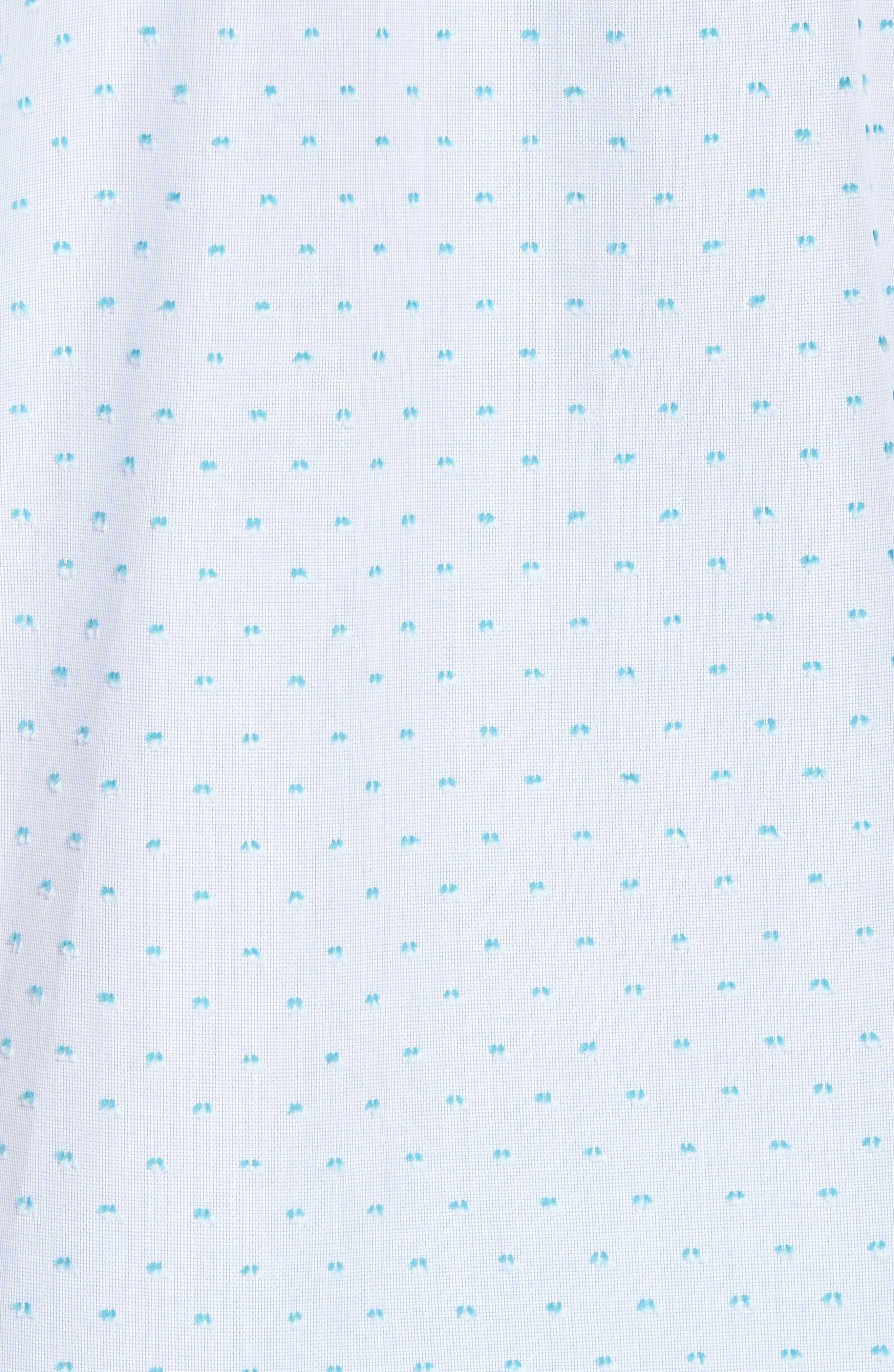 Dolle Fil a Coupe Sport Shirt,                             Alternate thumbnail 5, color,                             Light Blue